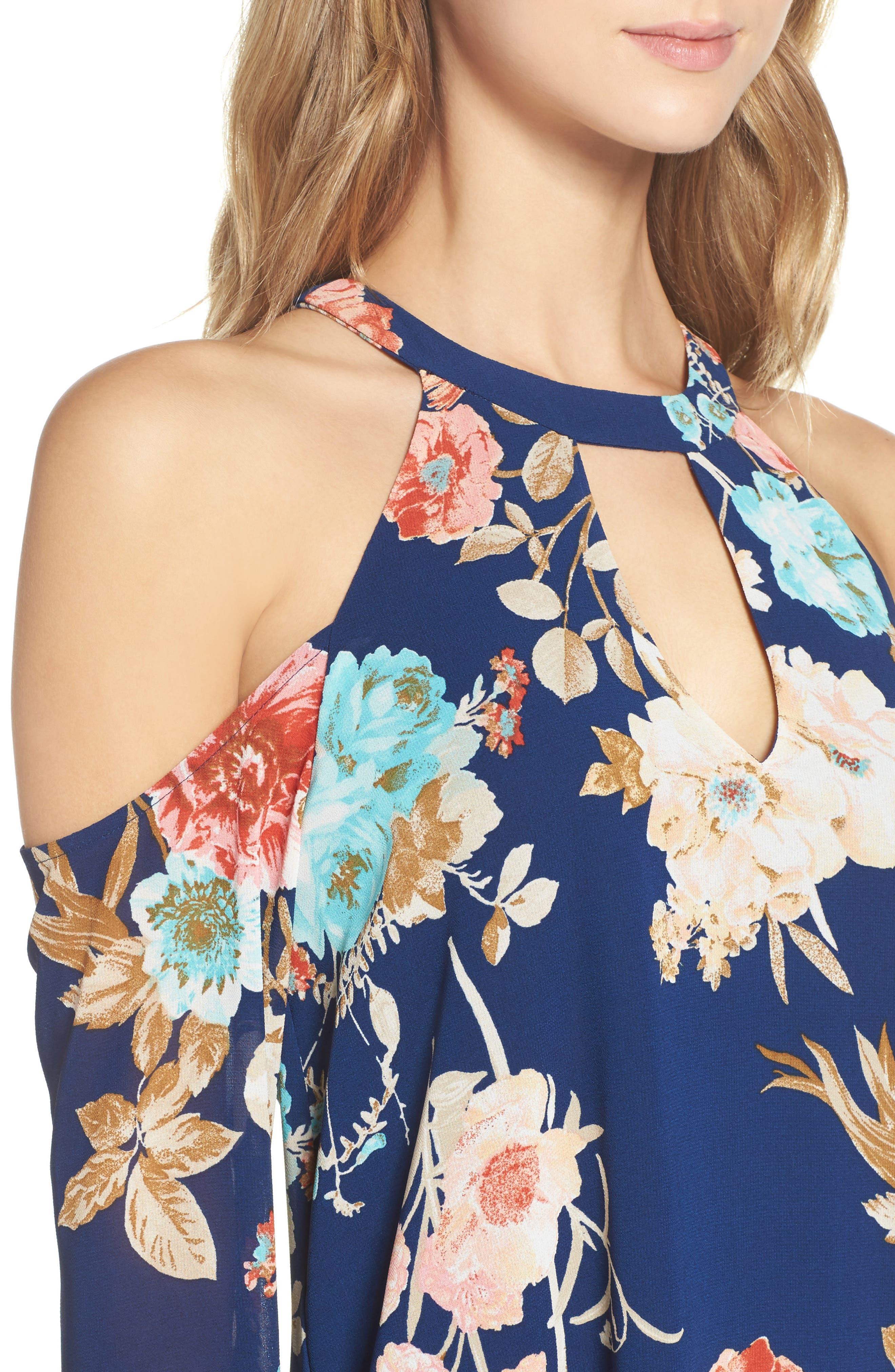 Cold Shoulder Dress,                             Alternate thumbnail 4, color,                             473