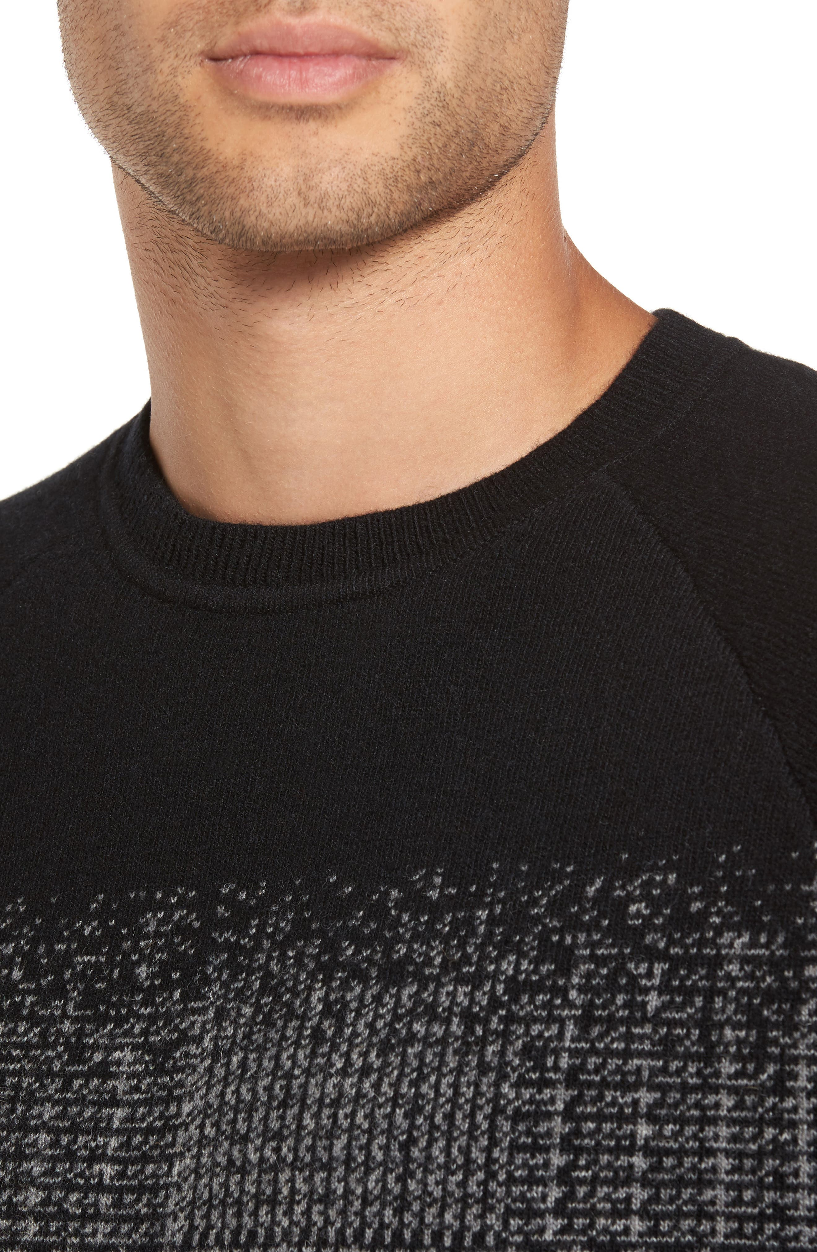 Block Pattern Wool Sweater,                             Alternate thumbnail 4, color,                             016
