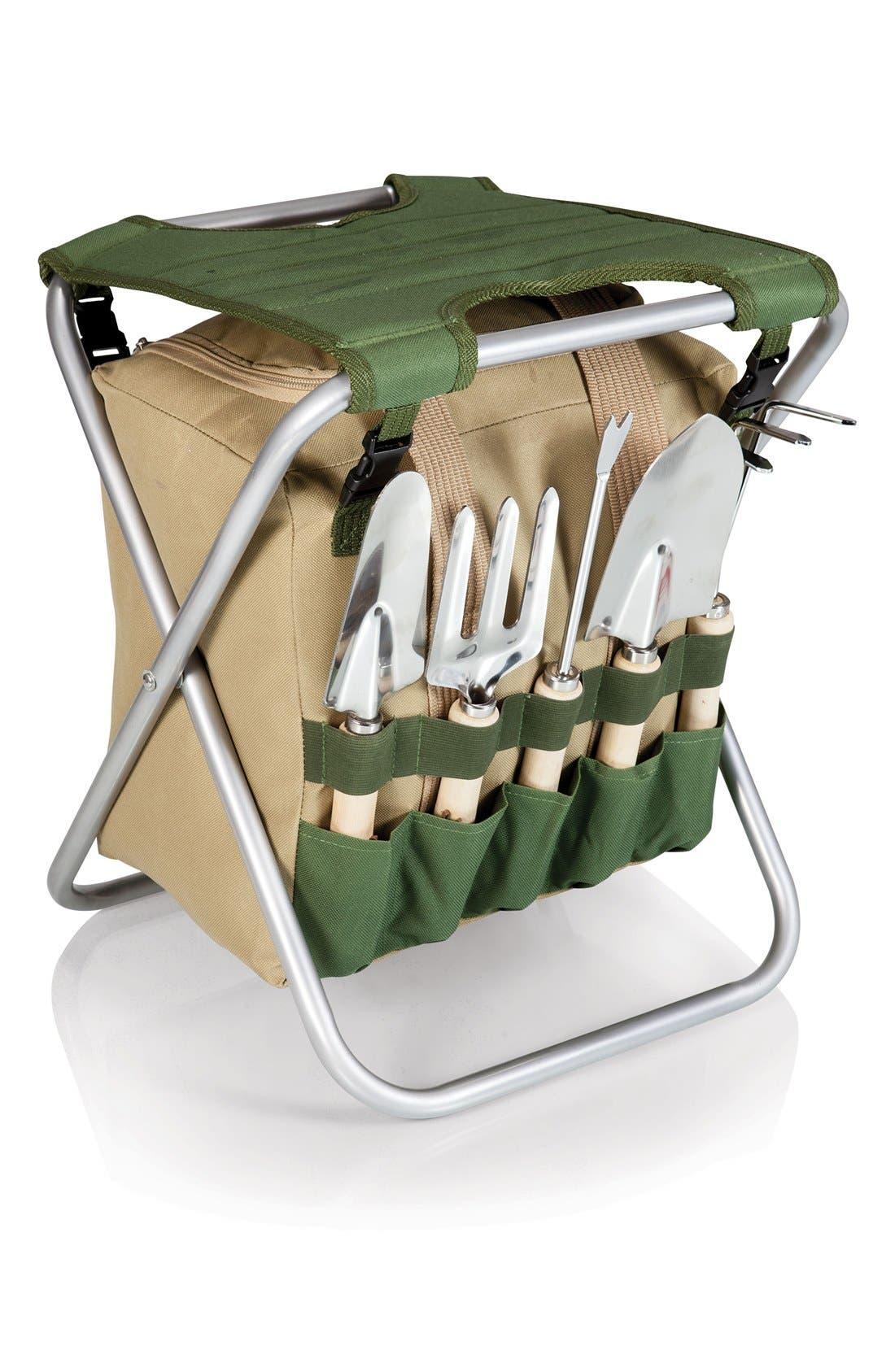 Picnic Time Gardener Seat & Tools,                             Main thumbnail 1, color,                             300