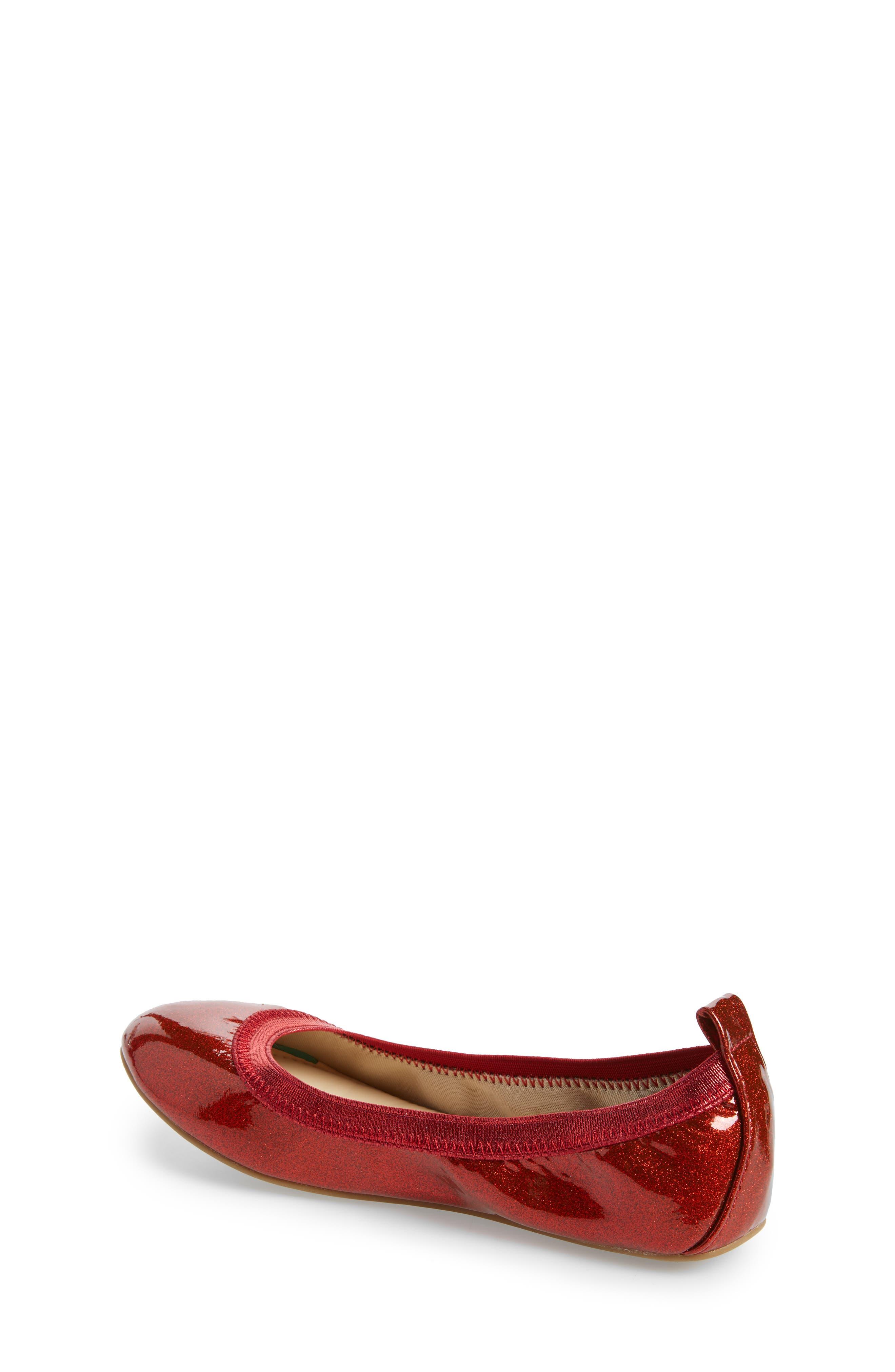 Miss Samara Ballet Flat,                             Alternate thumbnail 2, color,                             RED PATENT GLITTER