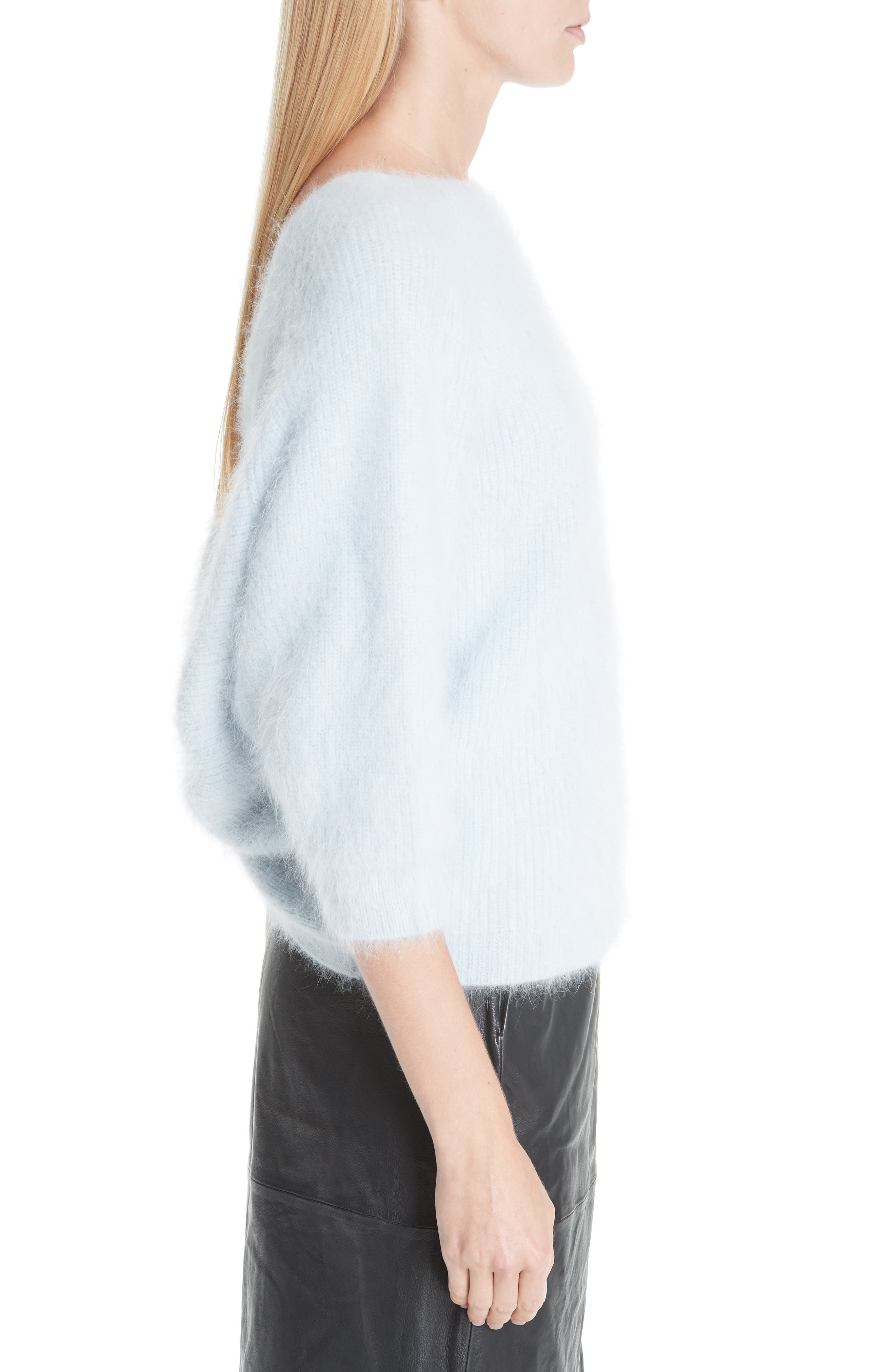 Barmy Twist Back Angora Blend Sweater,                             Alternate thumbnail 3, color,                             400