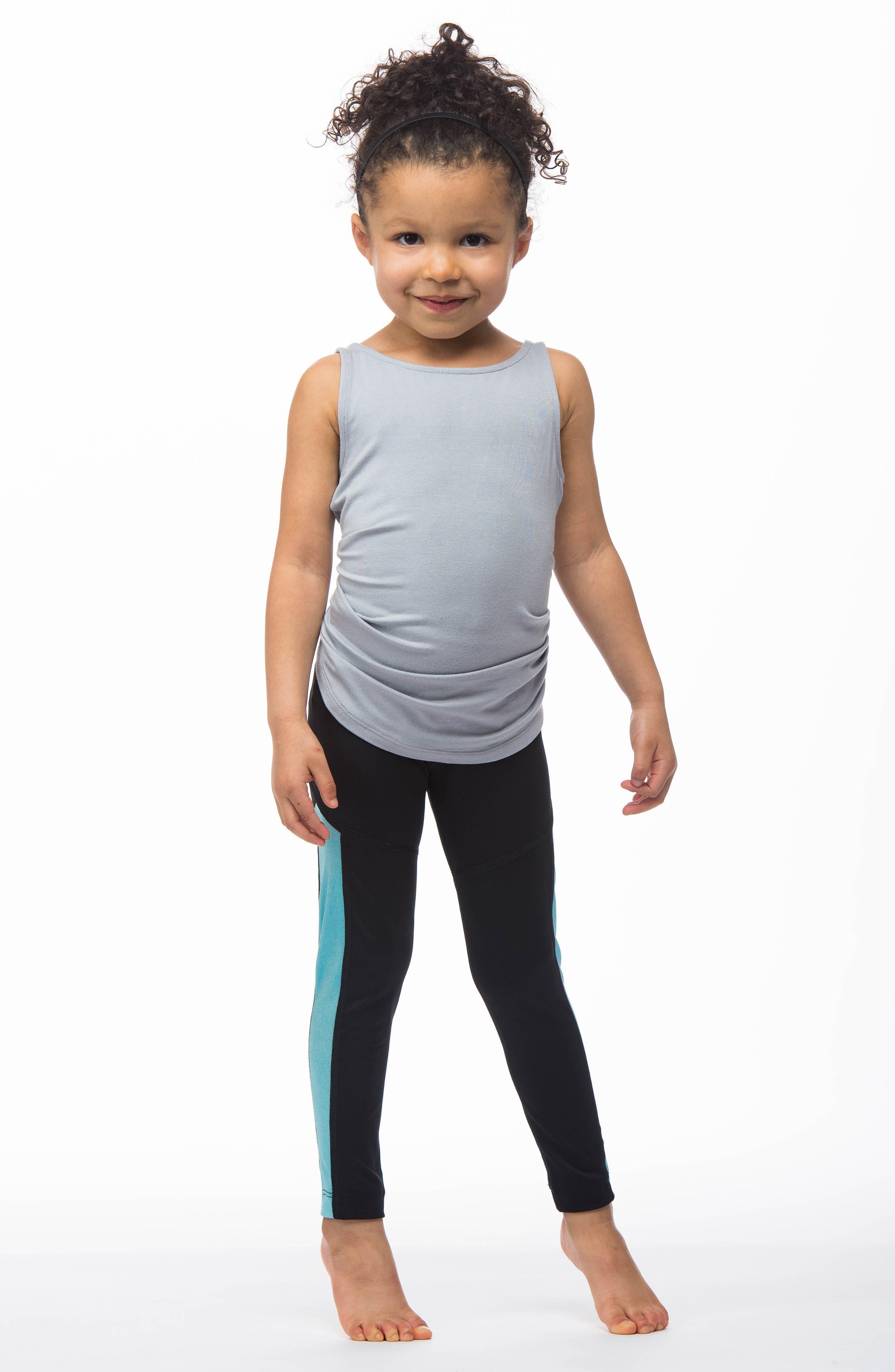 MIRA RAE,                             Zara Colorblock Leggings,                             Alternate thumbnail 7, color,                             001