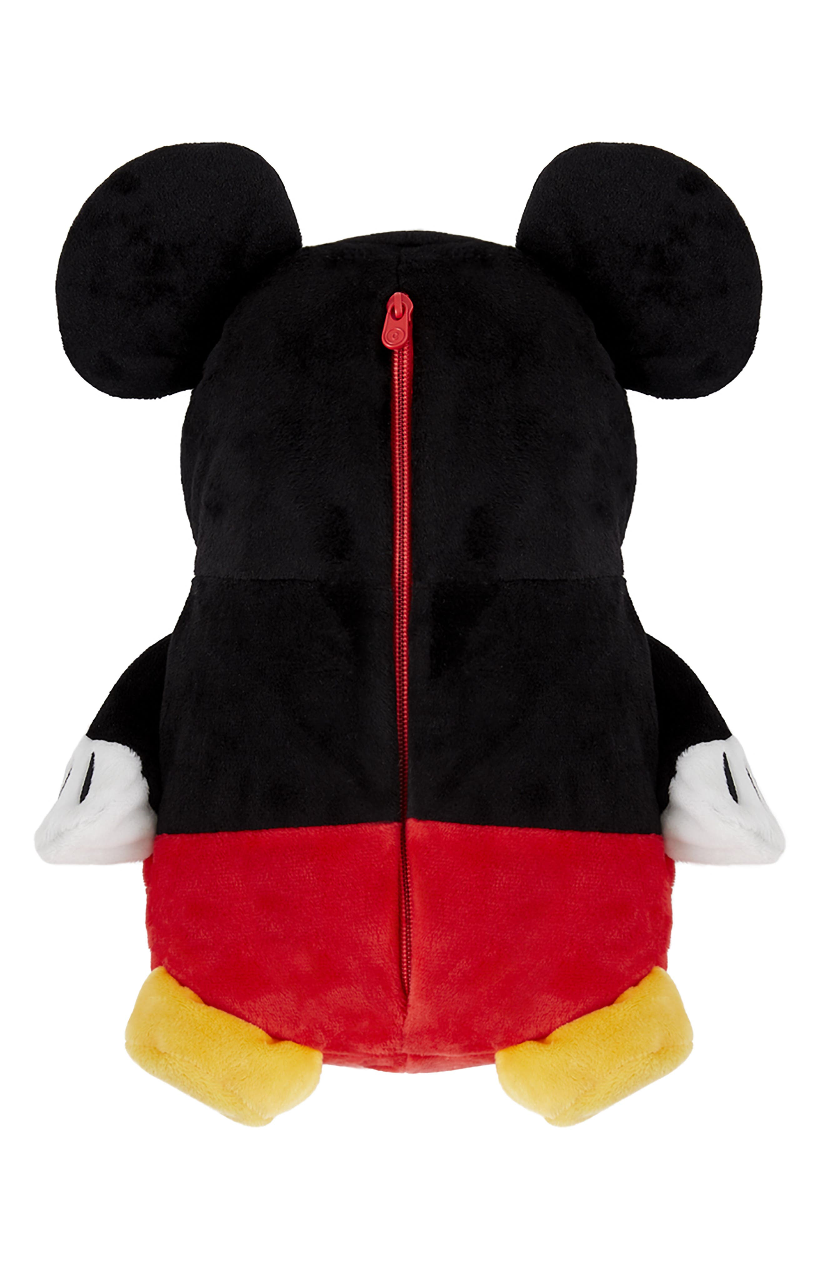 Mickey Mouse<sup>®</sup> 2-in-1 Stuffed Animal Hoodie,                             Alternate thumbnail 6, color,                             BLACK / RED MIX