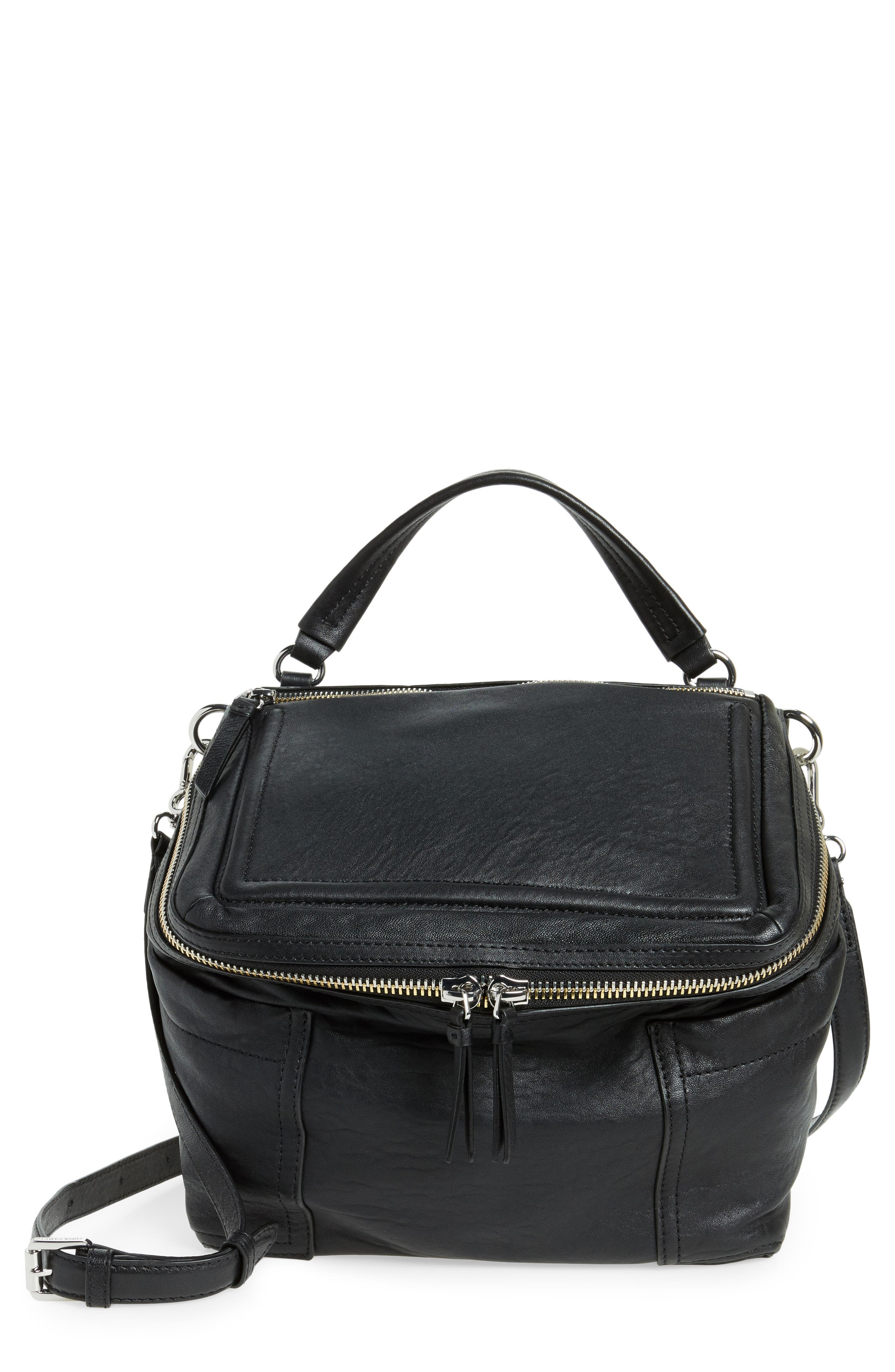 Large Patch Leather Crossbody Bag,                             Main thumbnail 2, color,