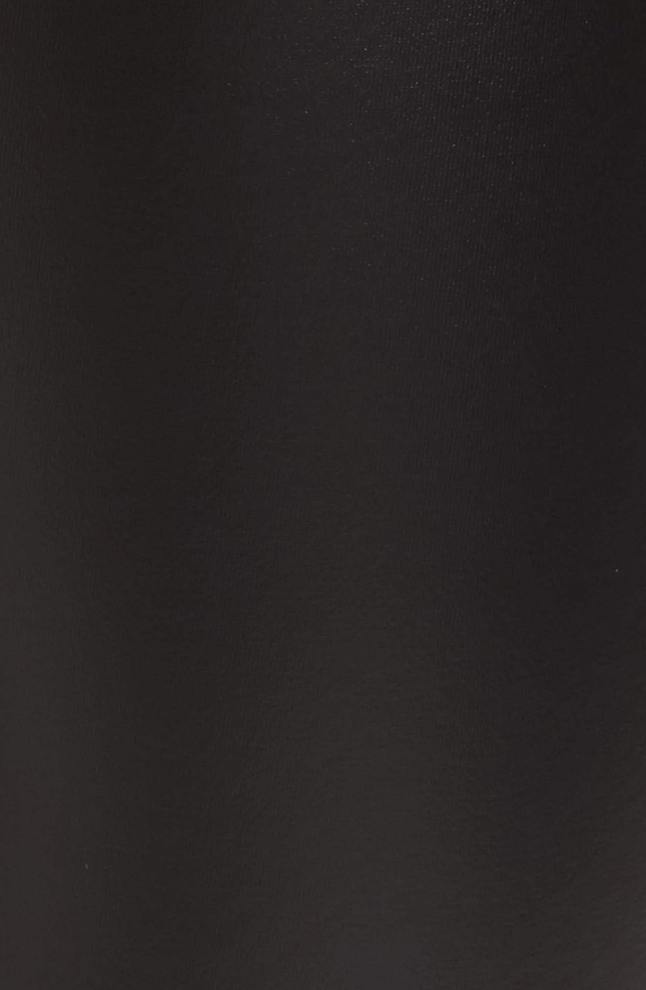 Plush Lined Faux Leather Leggings,                             Alternate thumbnail 5, color,                             001