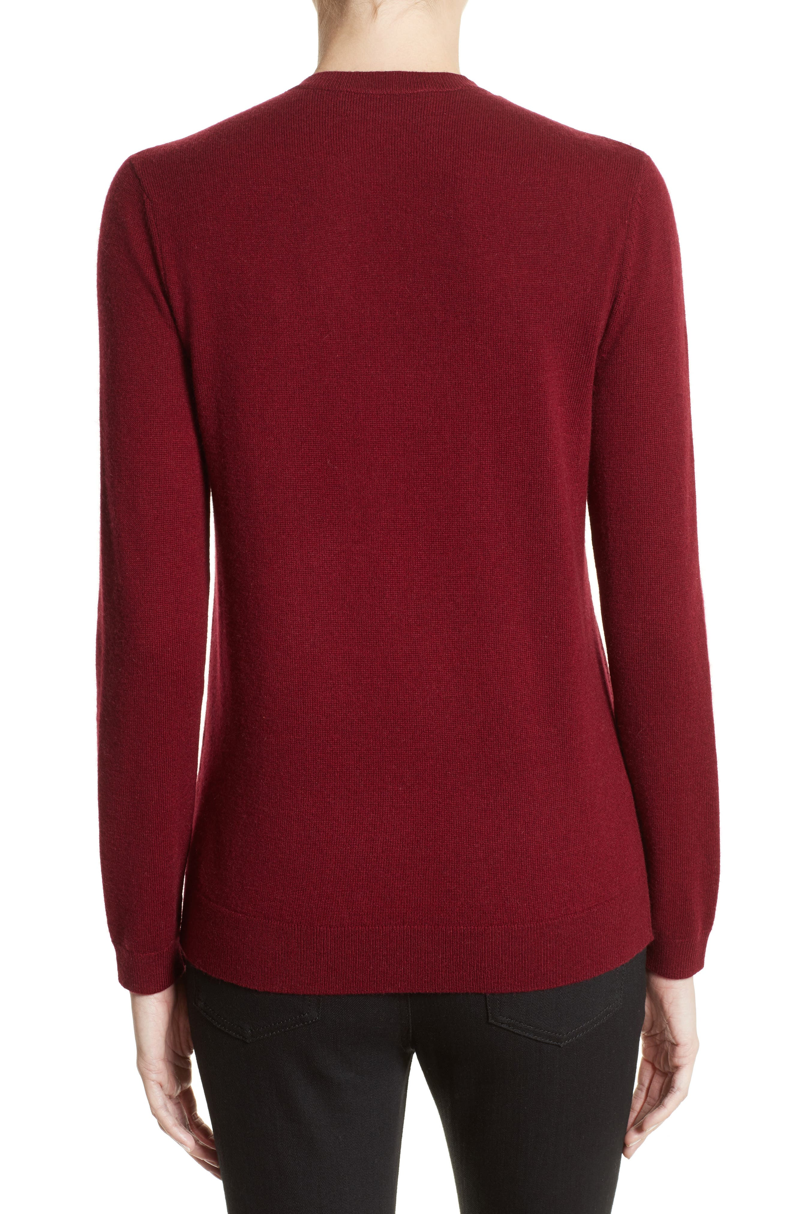 Pierced Collar Wool & Cashmere Pullover,                             Alternate thumbnail 2, color,                             600