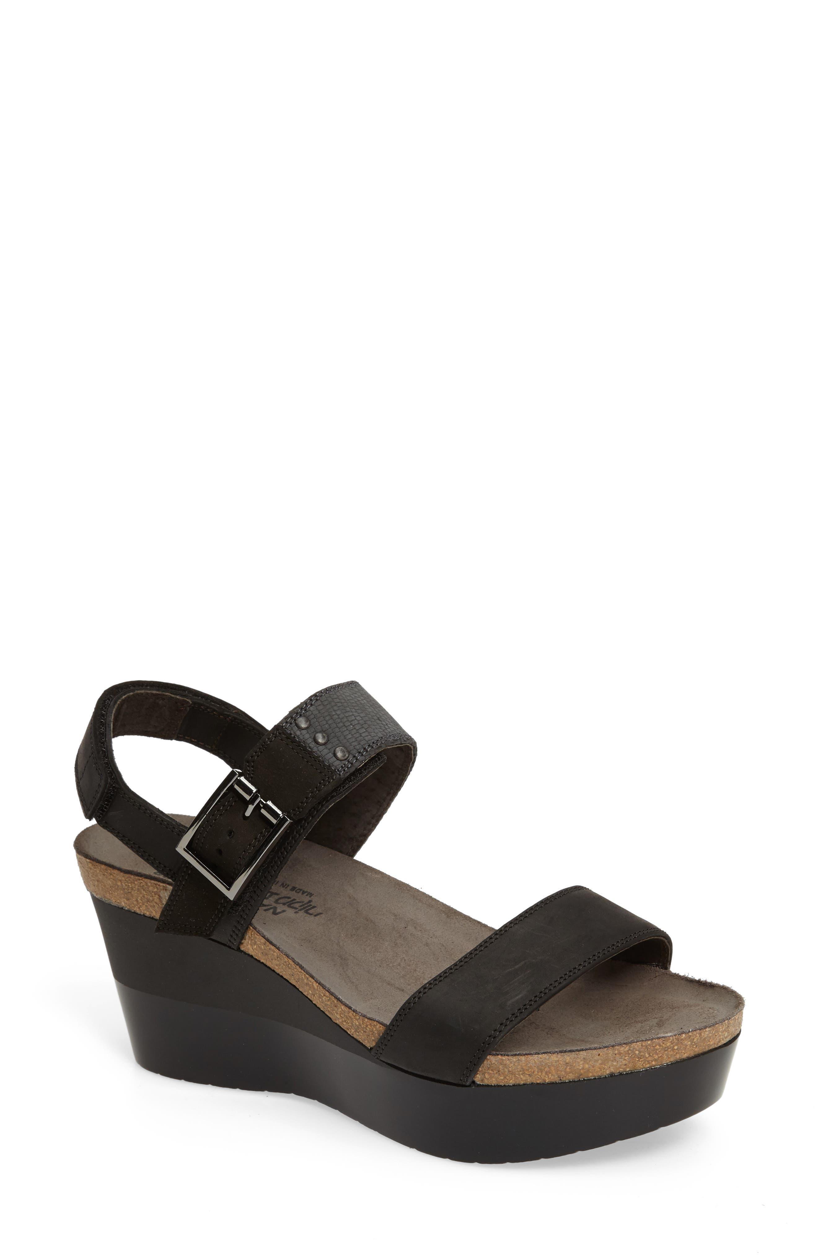 Alpha Platform Wedge Sandal Sandal,                             Main thumbnail 1, color,                             020