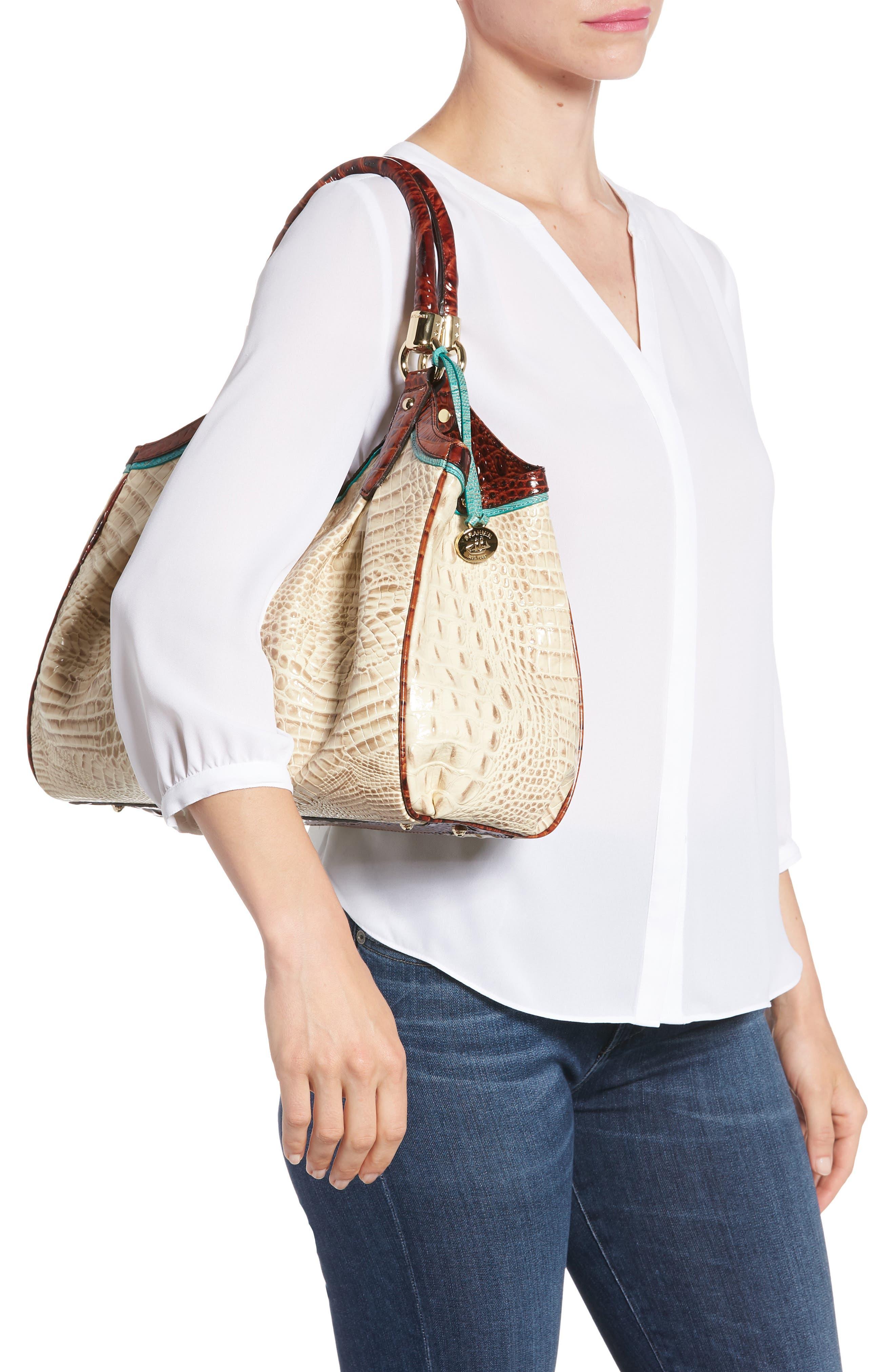 Elisa Leather Shoulder Bag,                             Alternate thumbnail 2, color,                             VANILLA