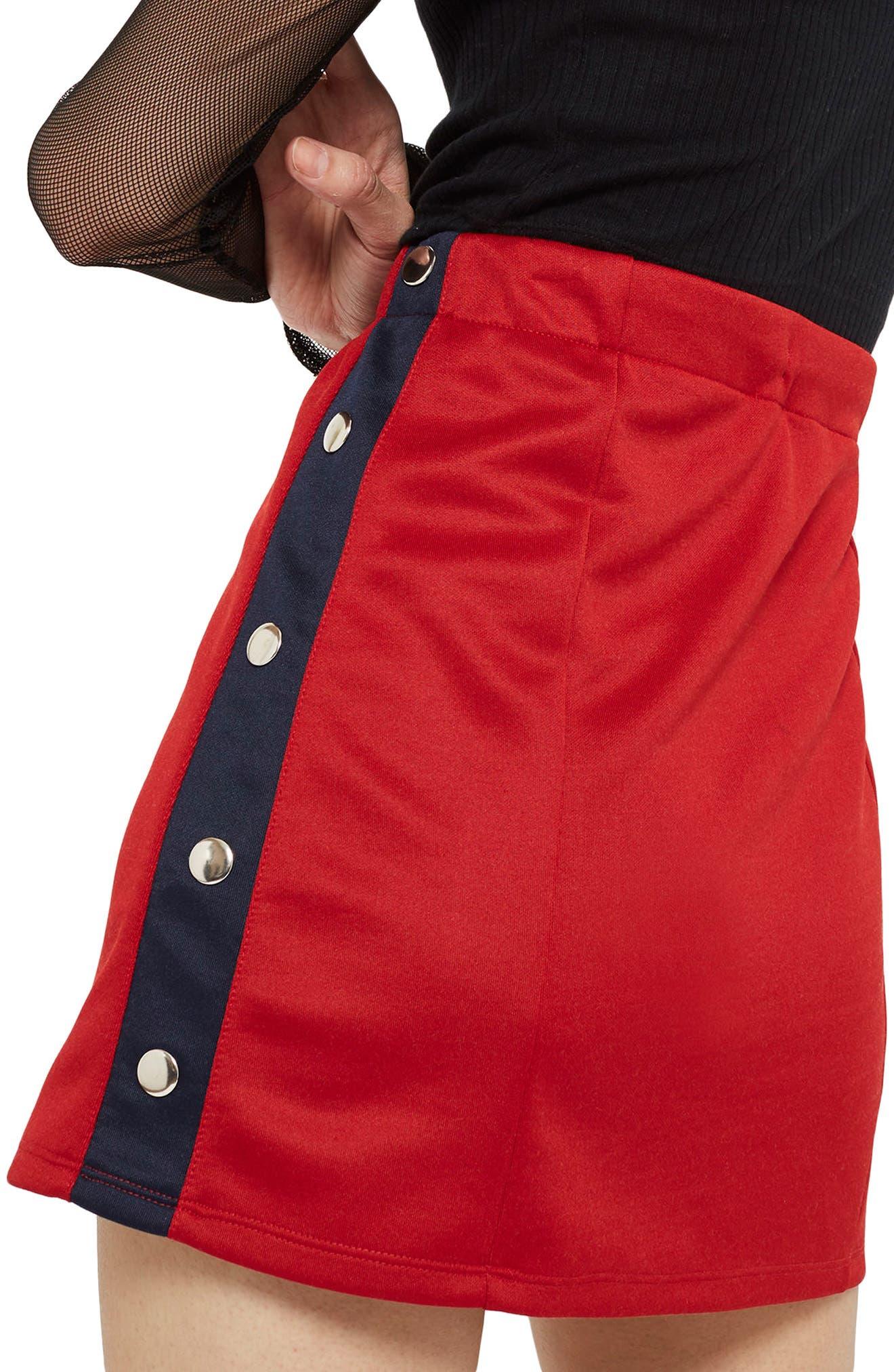 Sporty Popper Miniskirt,                             Alternate thumbnail 2, color,                             600