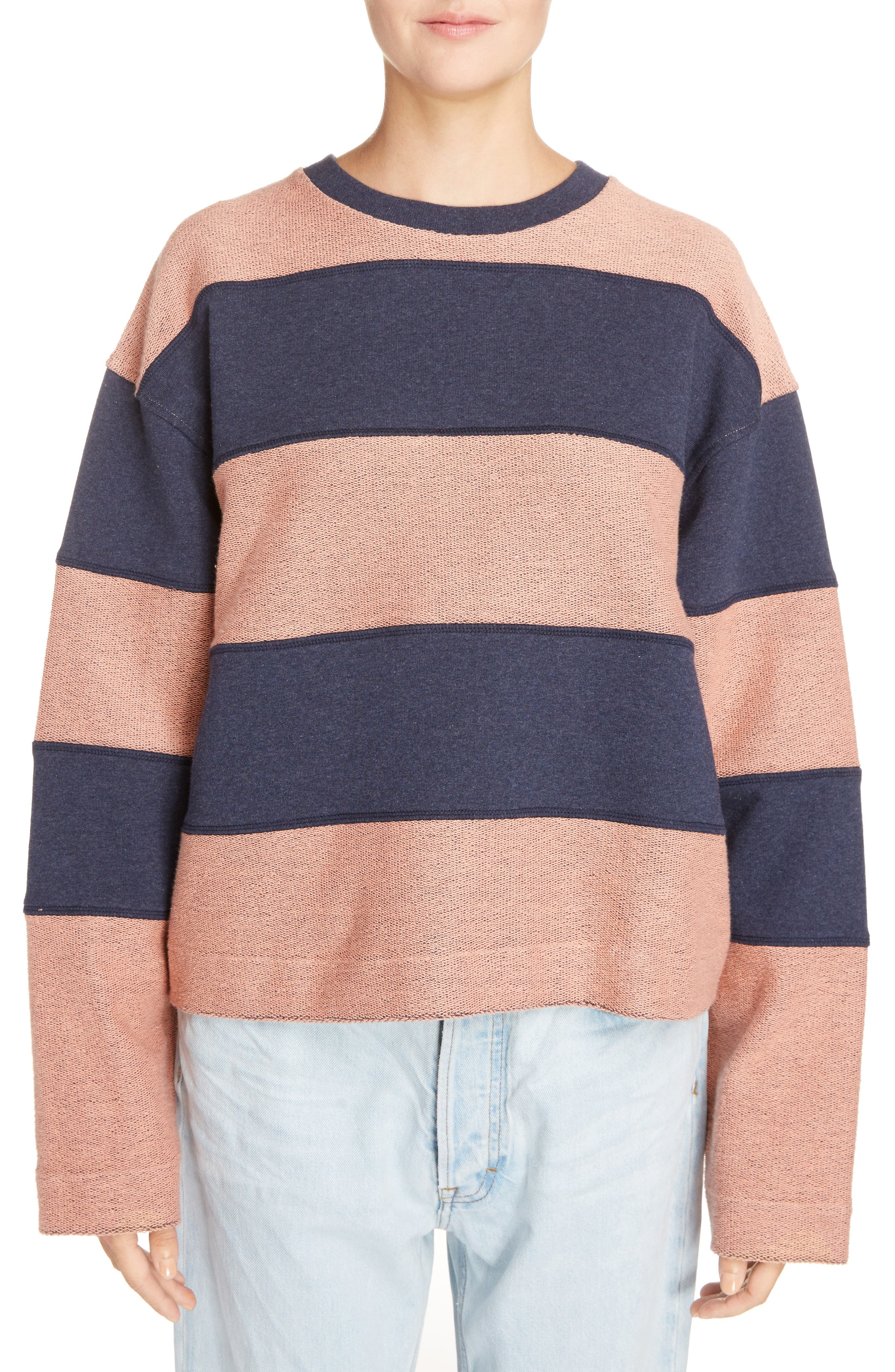 Diana Stripe Sweatshirt,                         Main,                         color, 400