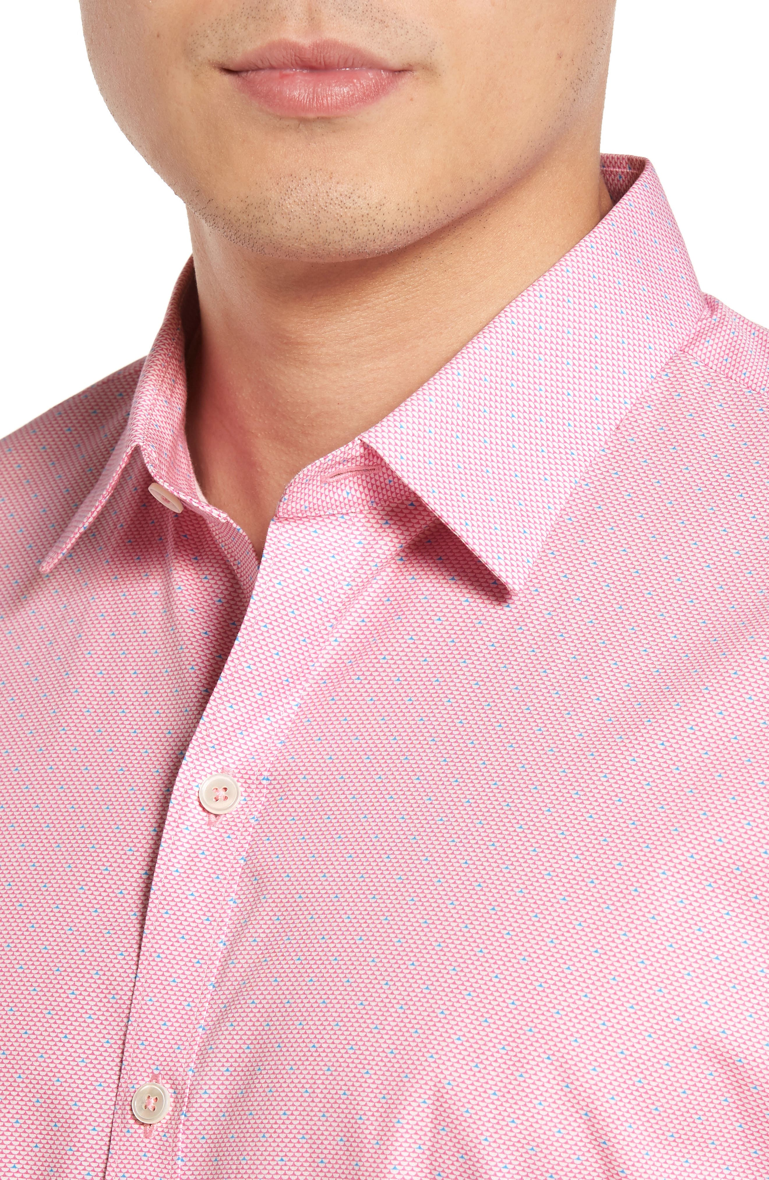 Dardano Trim Fit Print Sport Shirt,                             Alternate thumbnail 4, color,                             650