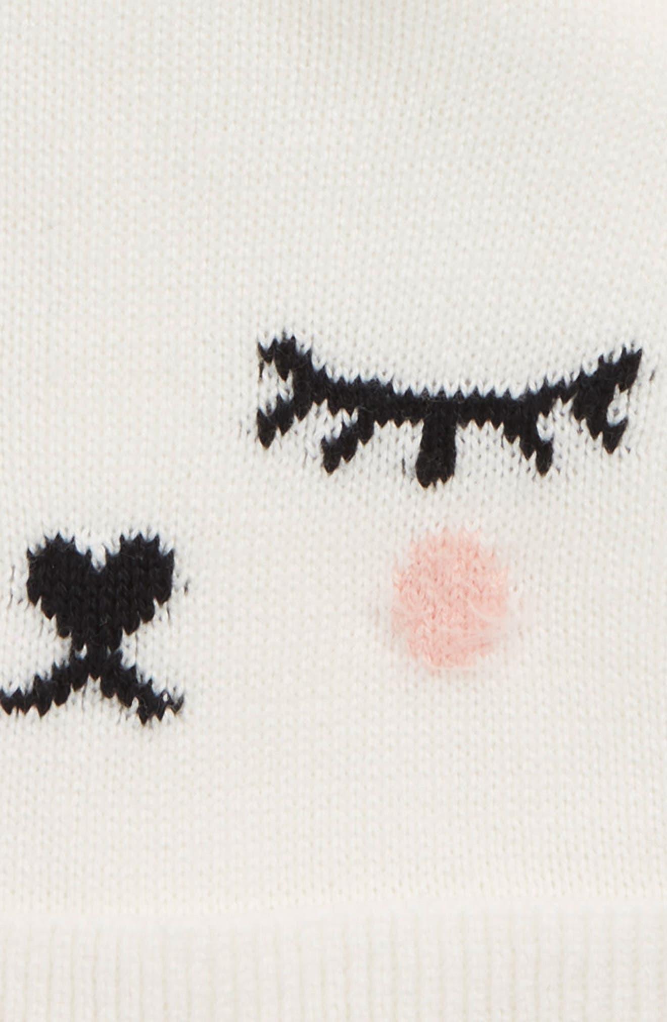 Animal Face Hat,                             Alternate thumbnail 2, color,                             IVORY EGRET- PINK