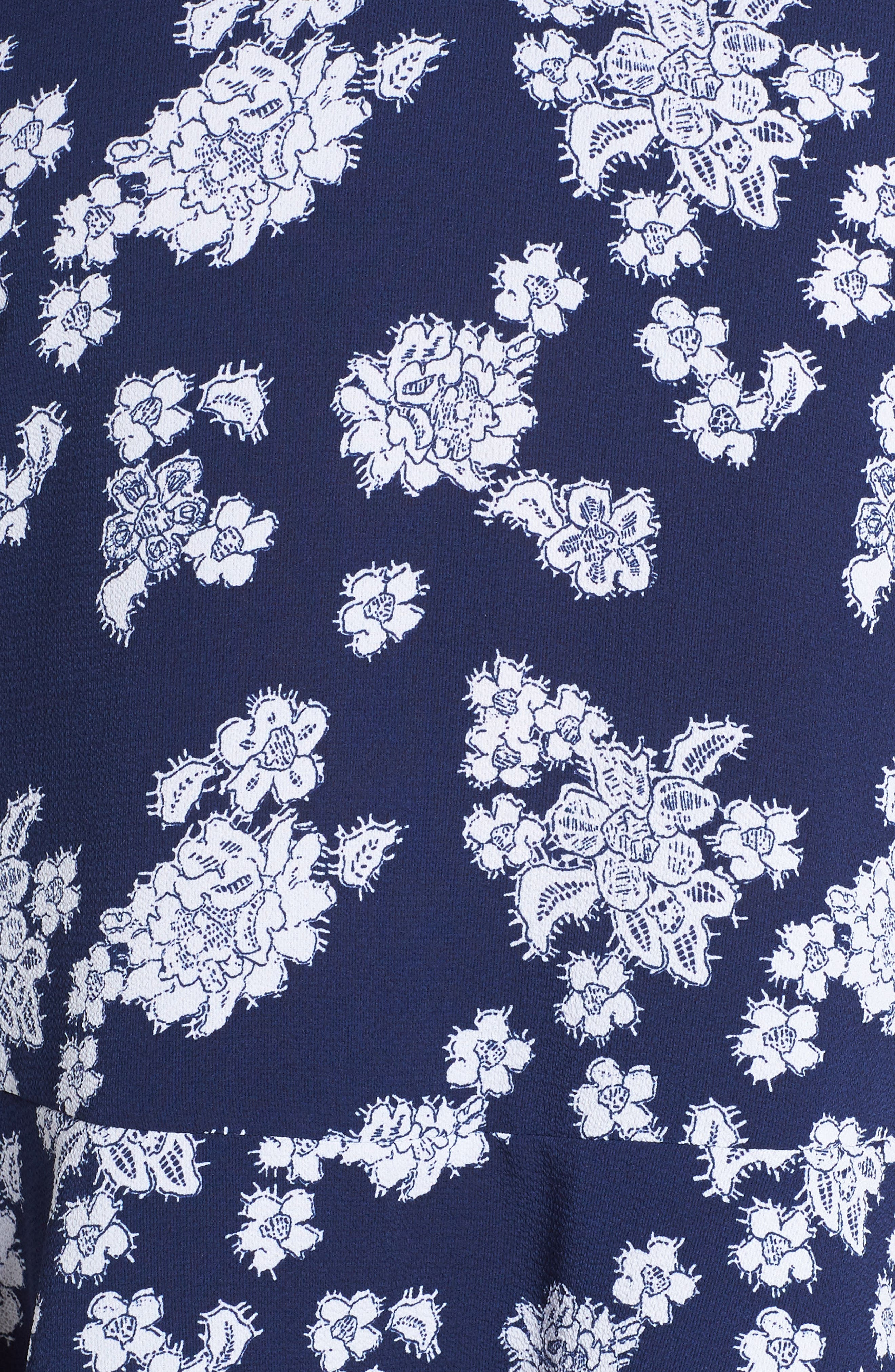 Tossed Lace Flowers Top,                             Alternate thumbnail 5, color,                             TRUE NAVY/ WHITE