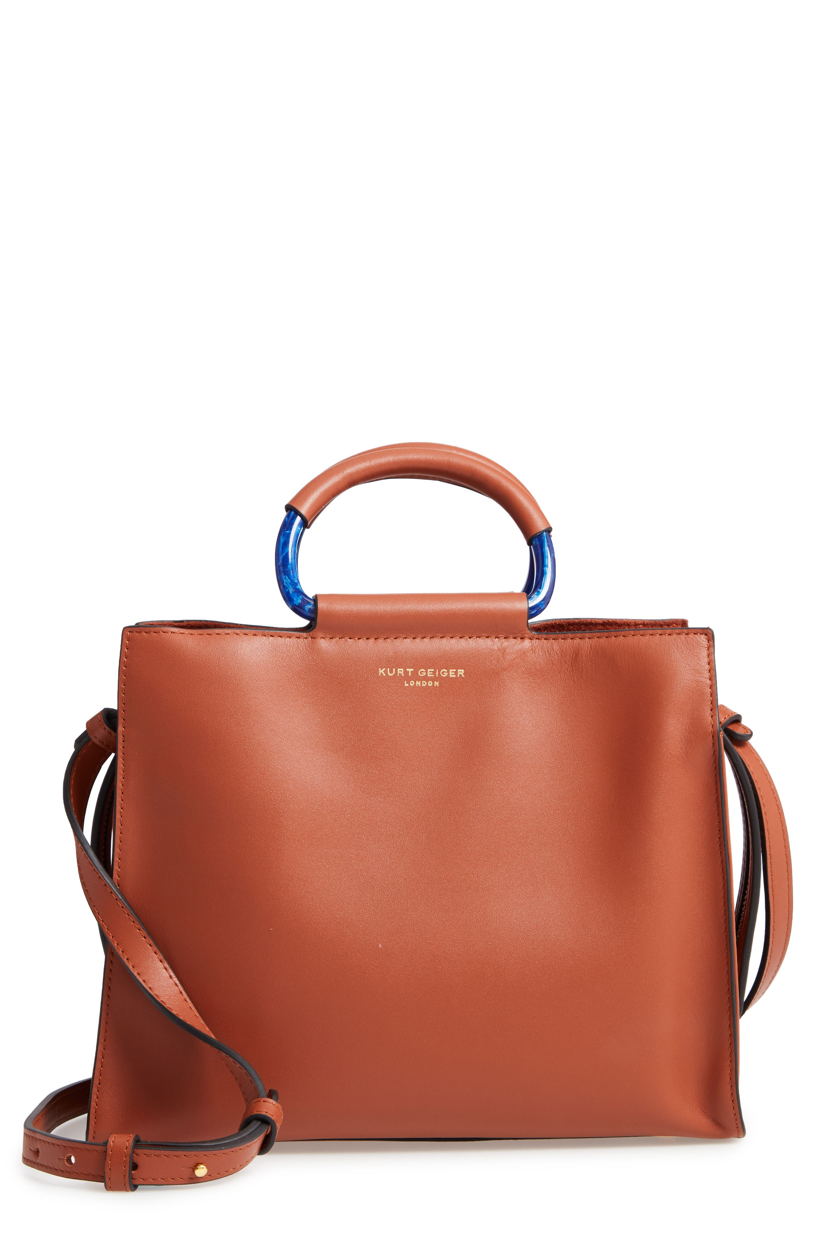 Harriet Leather Box Tote,                         Main,                         color,