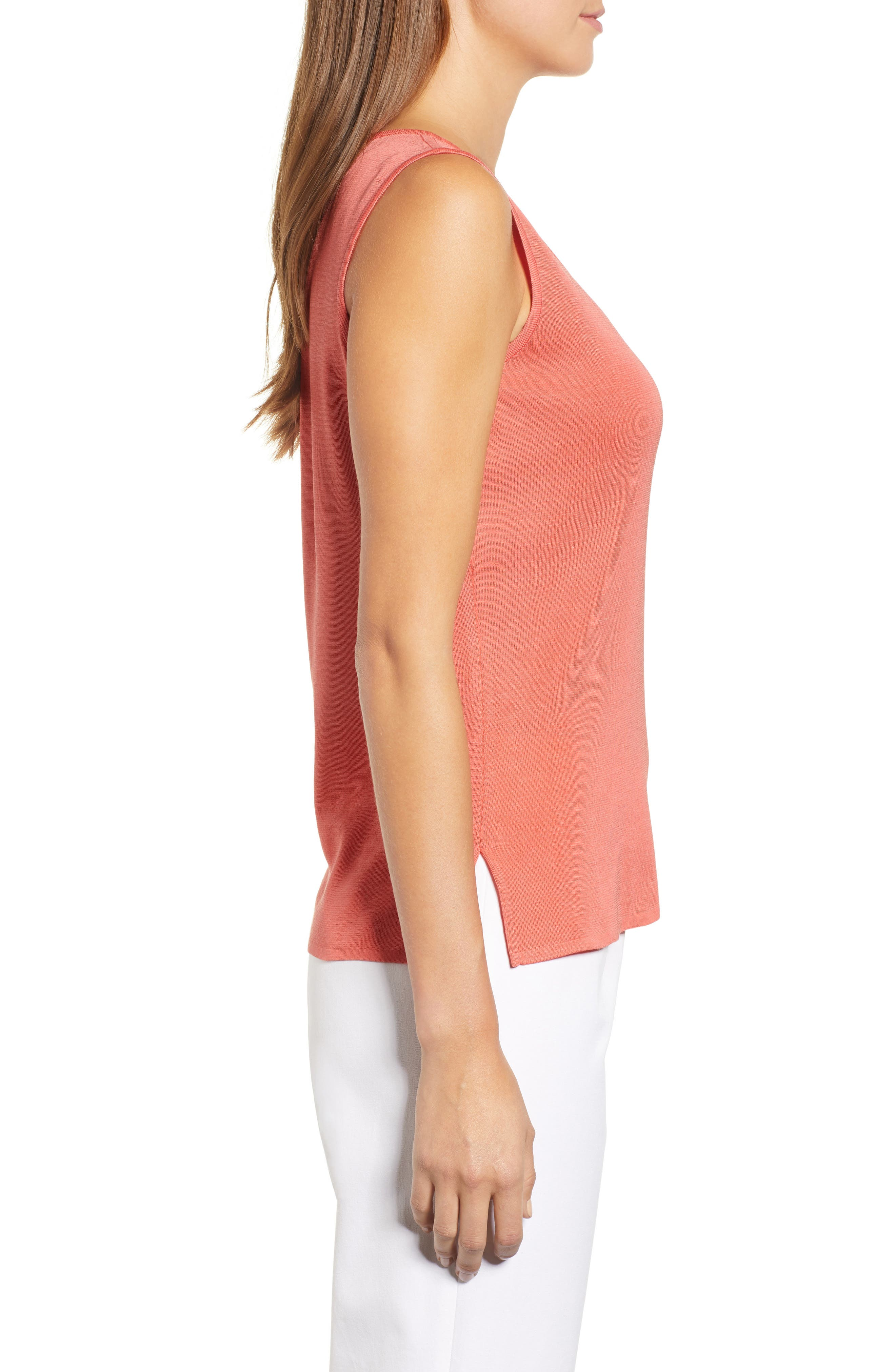 Scoop Neck Tank,                             Alternate thumbnail 3, color,                             DAYLILY