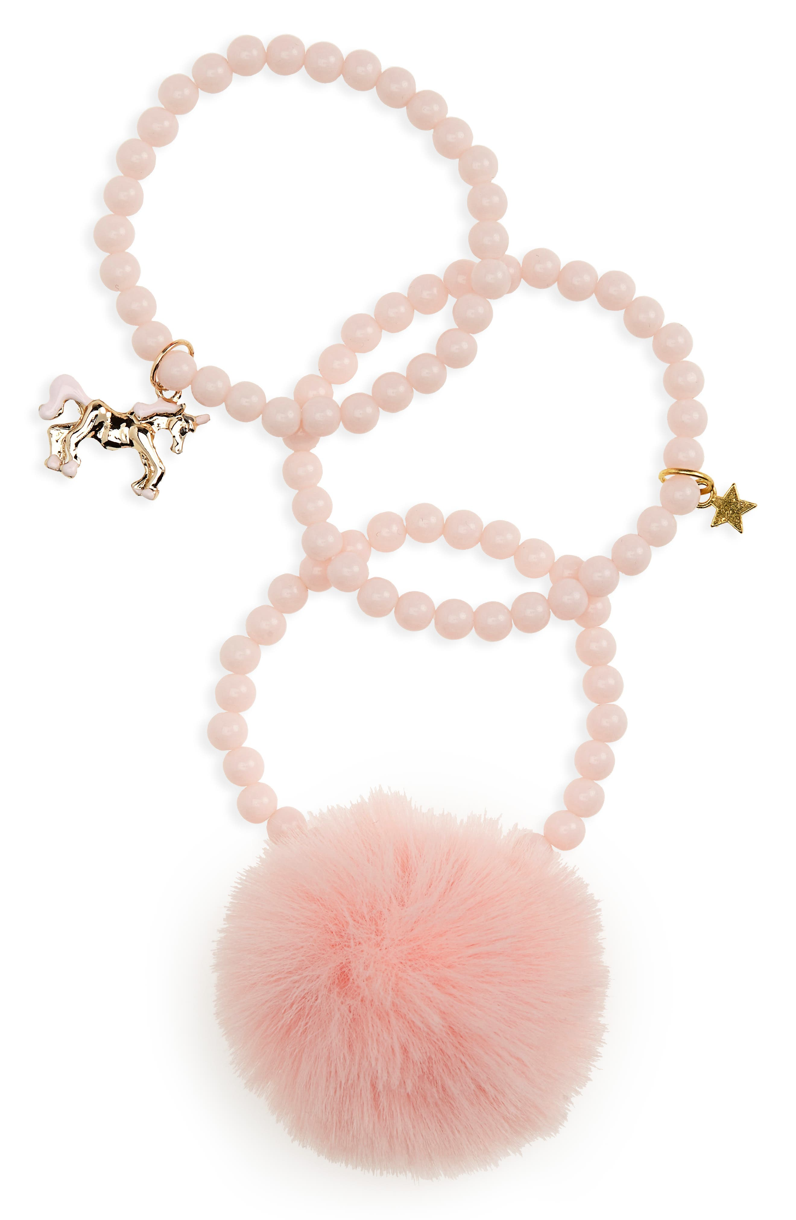 Girls Heart Me 3Pack Beaded Charm Bracelets