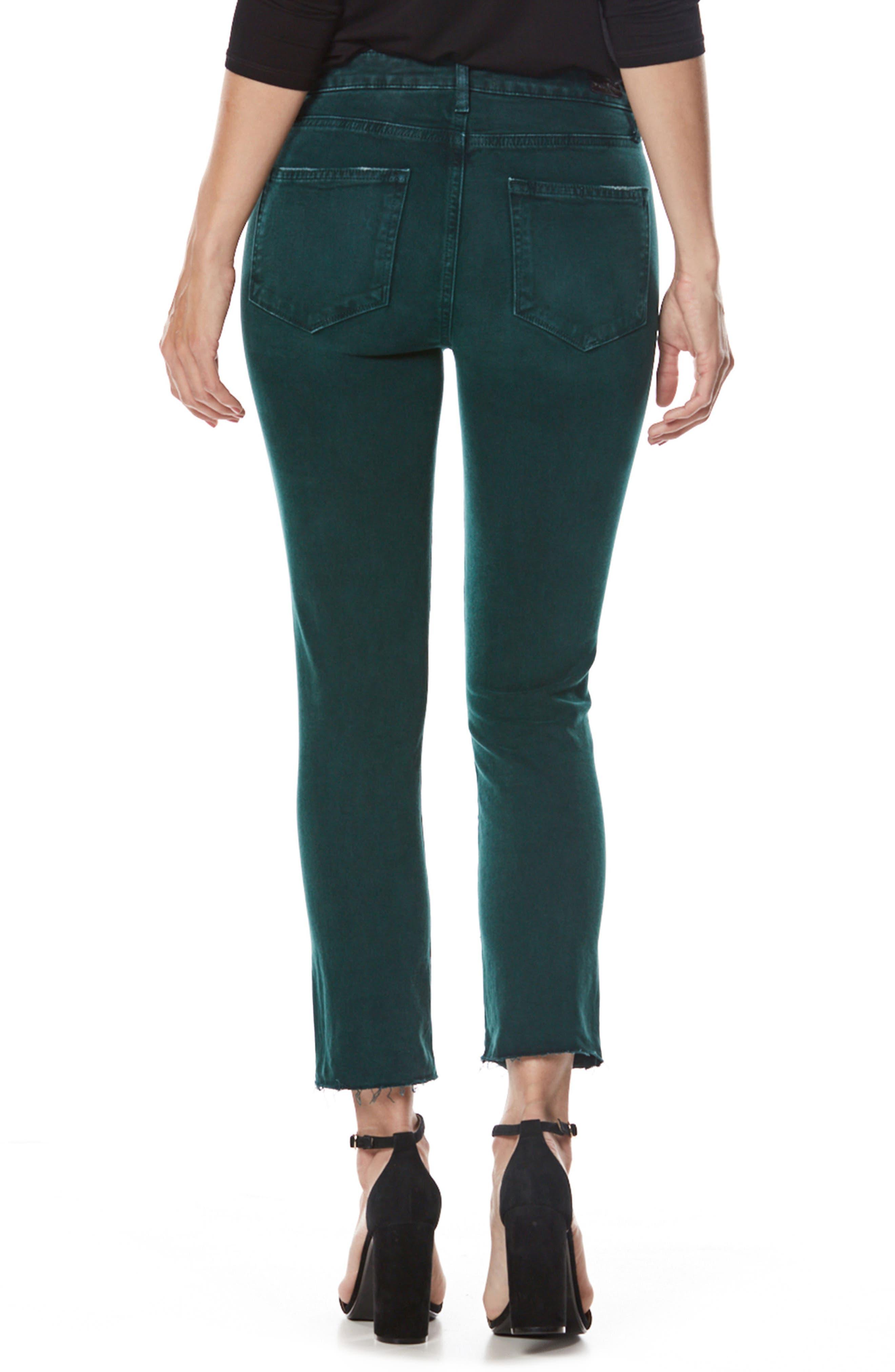 Jacqueline High Waist Crop Straight Leg Jeans,                             Alternate thumbnail 2, color,                             499