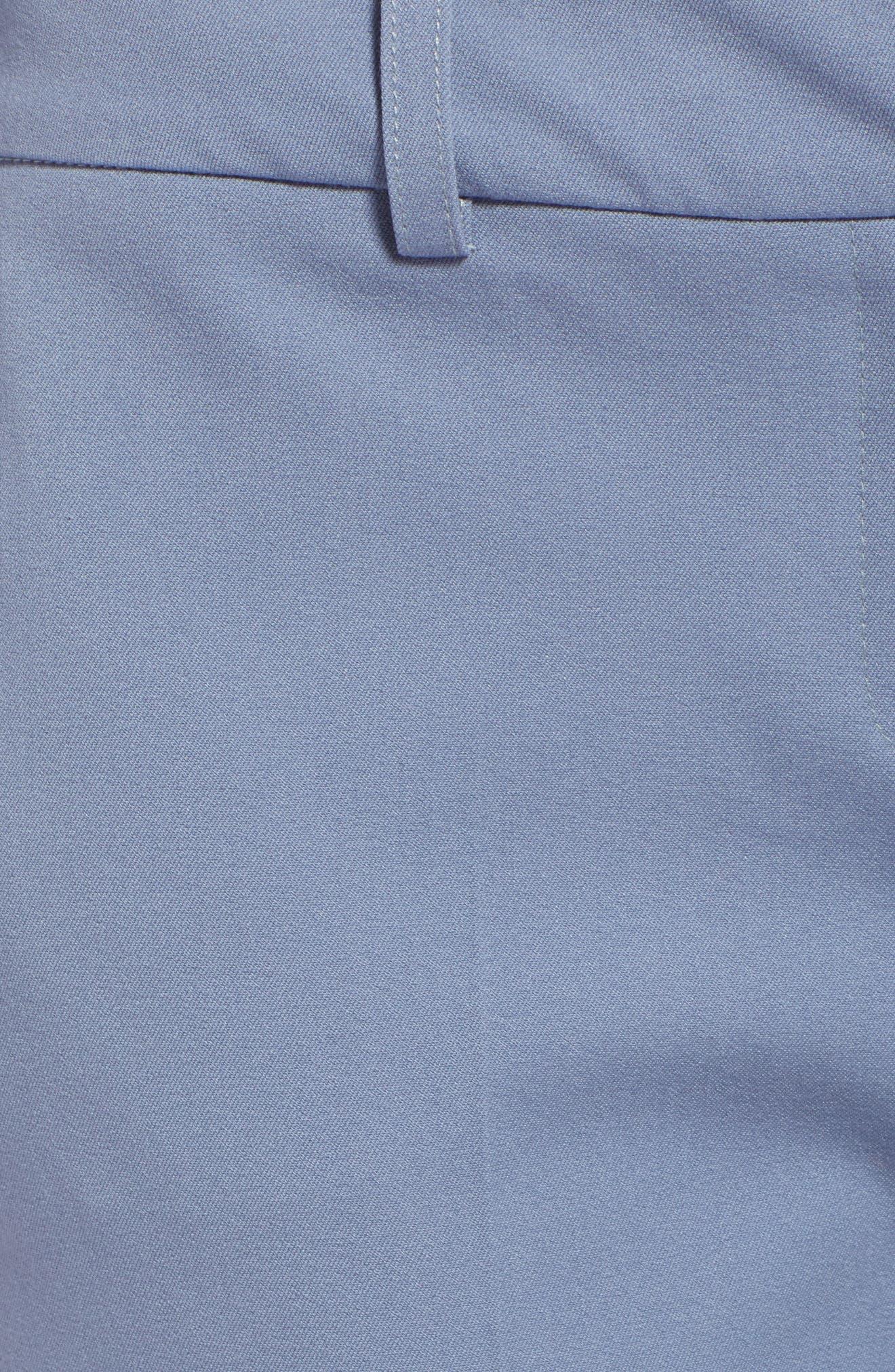 Crop Stretch Cotton Pants,                             Alternate thumbnail 89, color,
