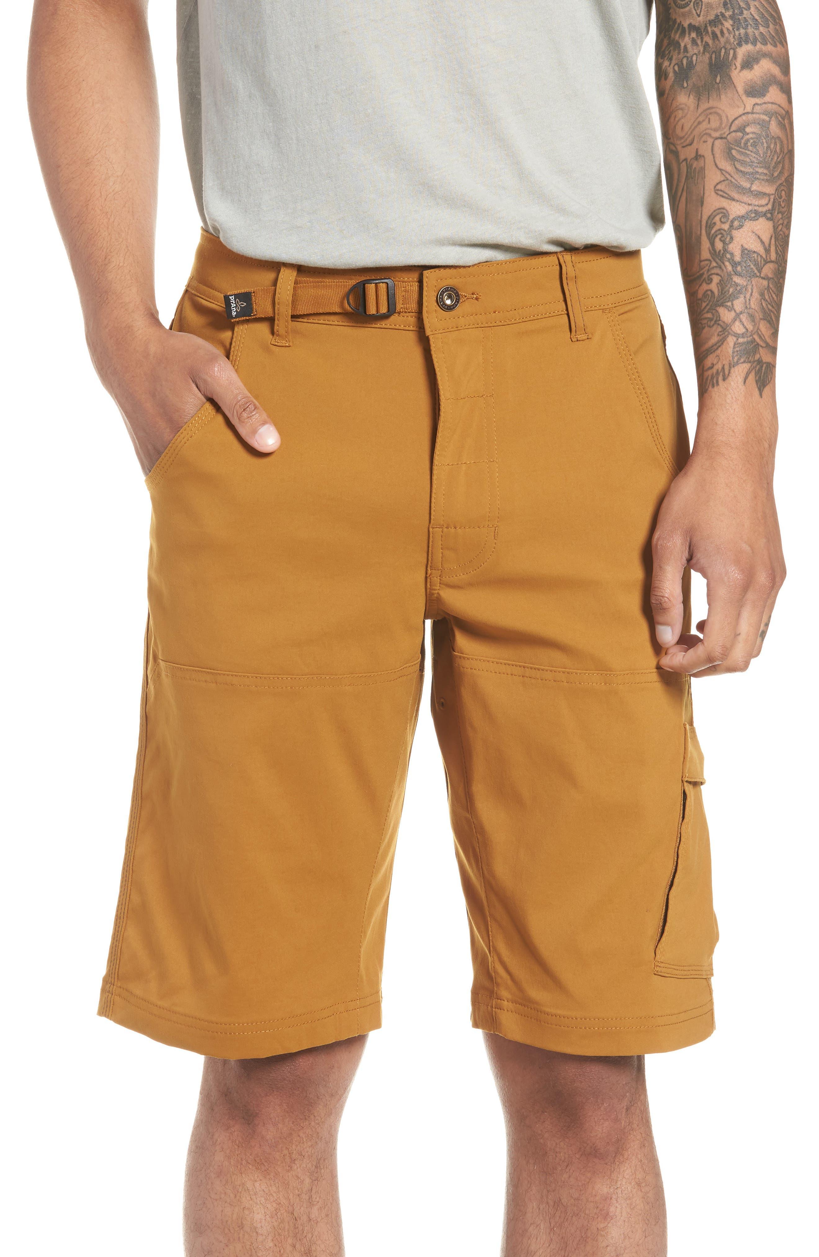 PRANA Zion Stretch Shorts, Main, color, BRONZED