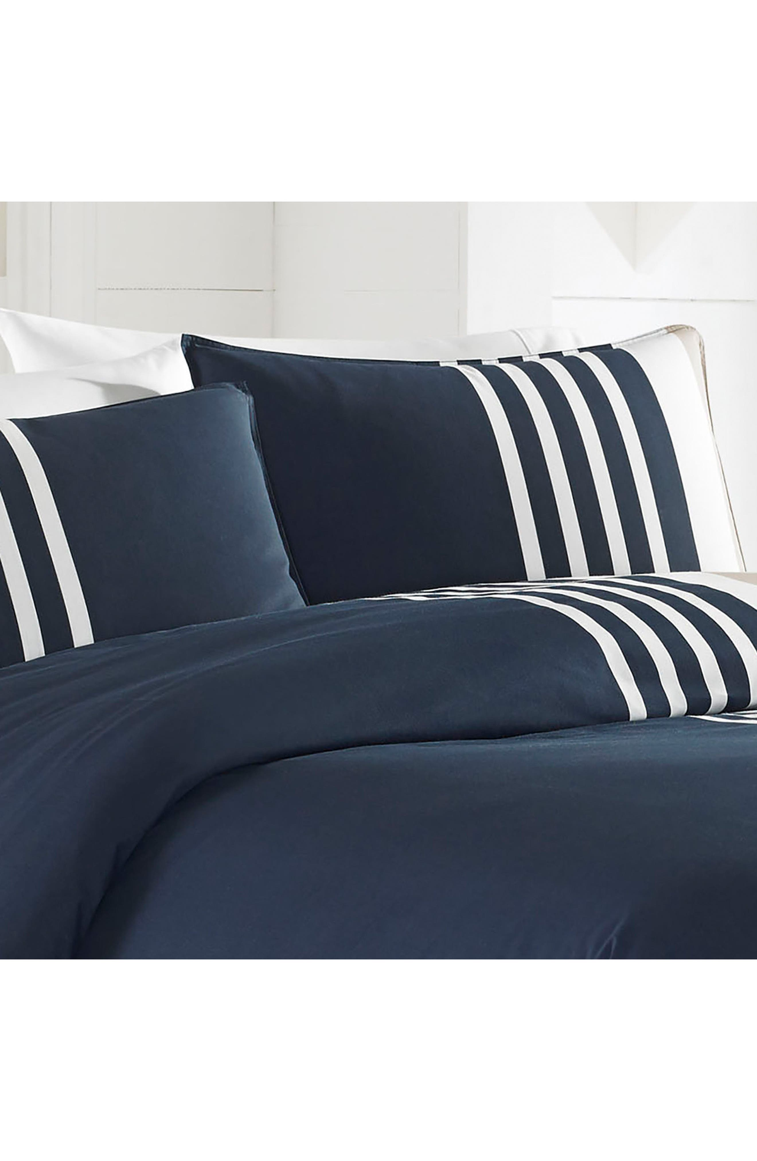Aport Duvet & Sham Set,                             Alternate thumbnail 4, color,                             NAVY