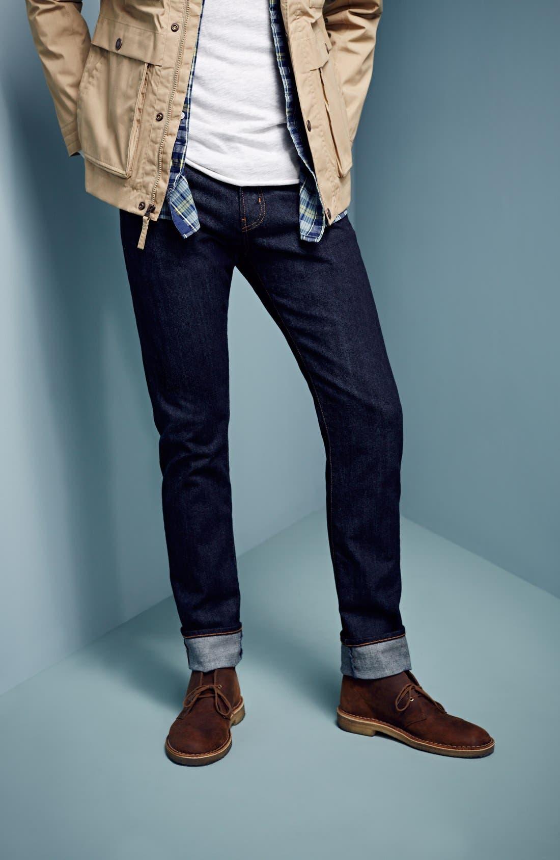 AG,                             'Matchbox' Slim Fit Selvedge Jeans,                             Main thumbnail 1, color,                             427