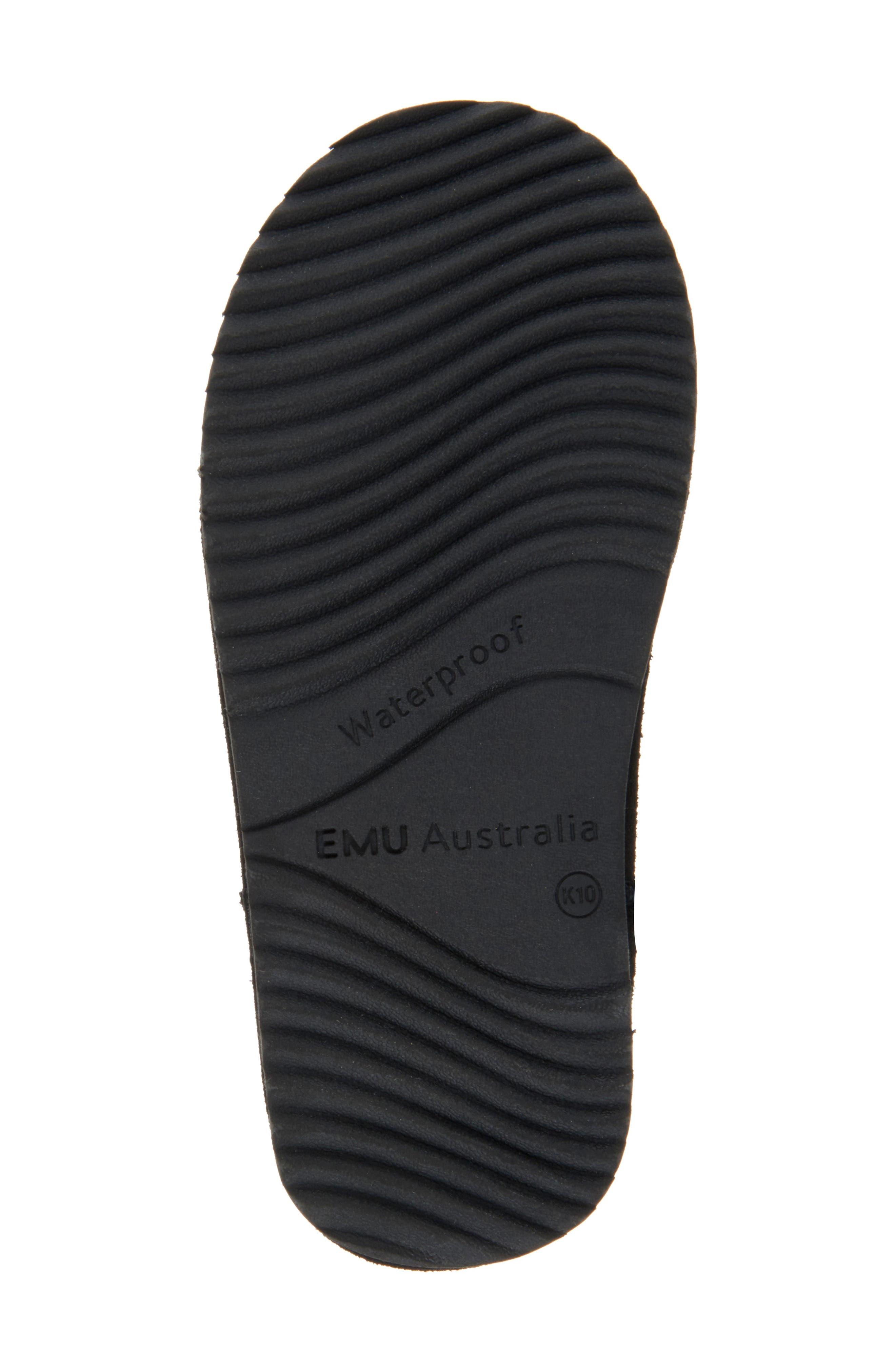 Brumby Waterproof Boot,                             Alternate thumbnail 5, color,                             BLACK SUEDE