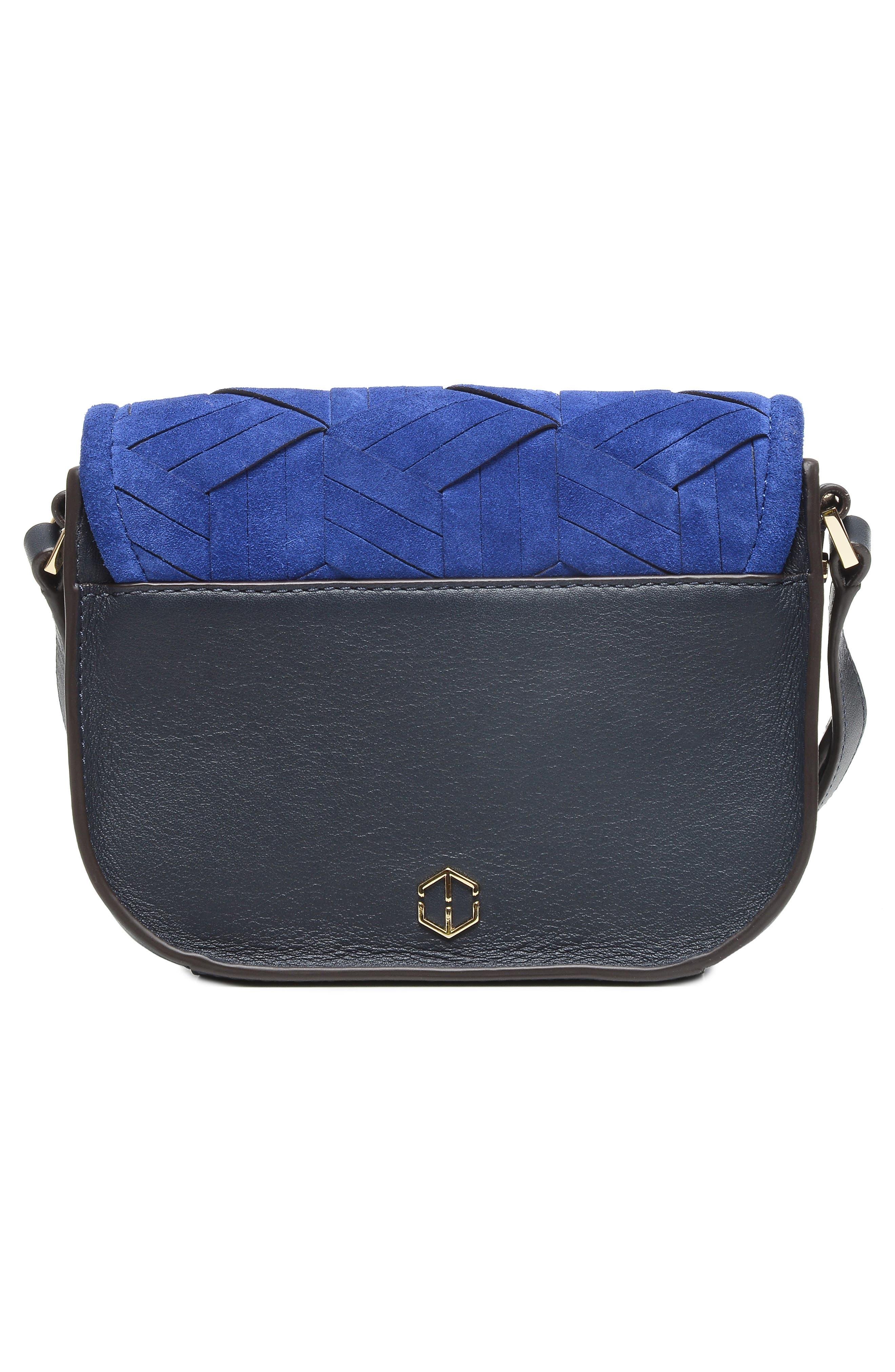 Mini Summit Suede & Leather Crossbody Bag,                             Alternate thumbnail 3, color,                             400