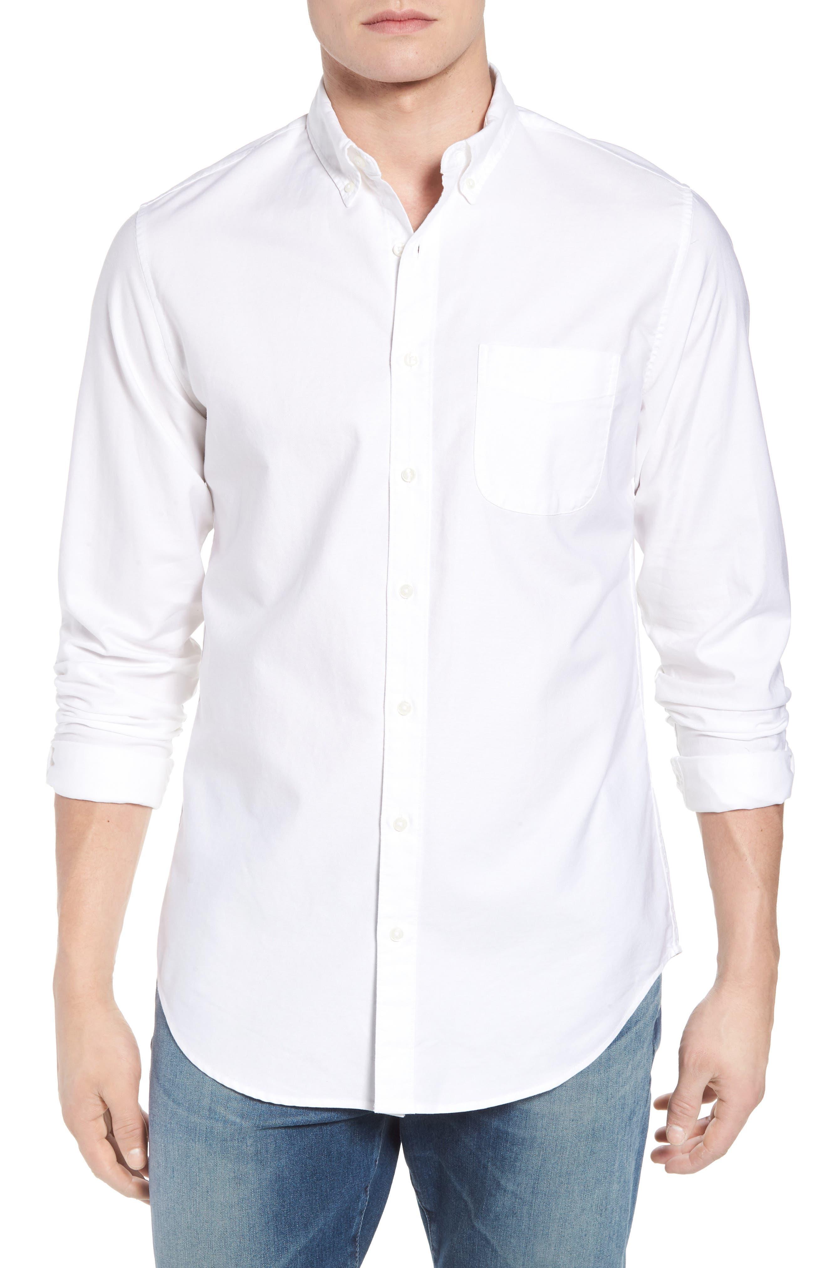 Classic Fit Stretch Pima Cotton Oxford Shirt,                             Main thumbnail 1, color,                             104