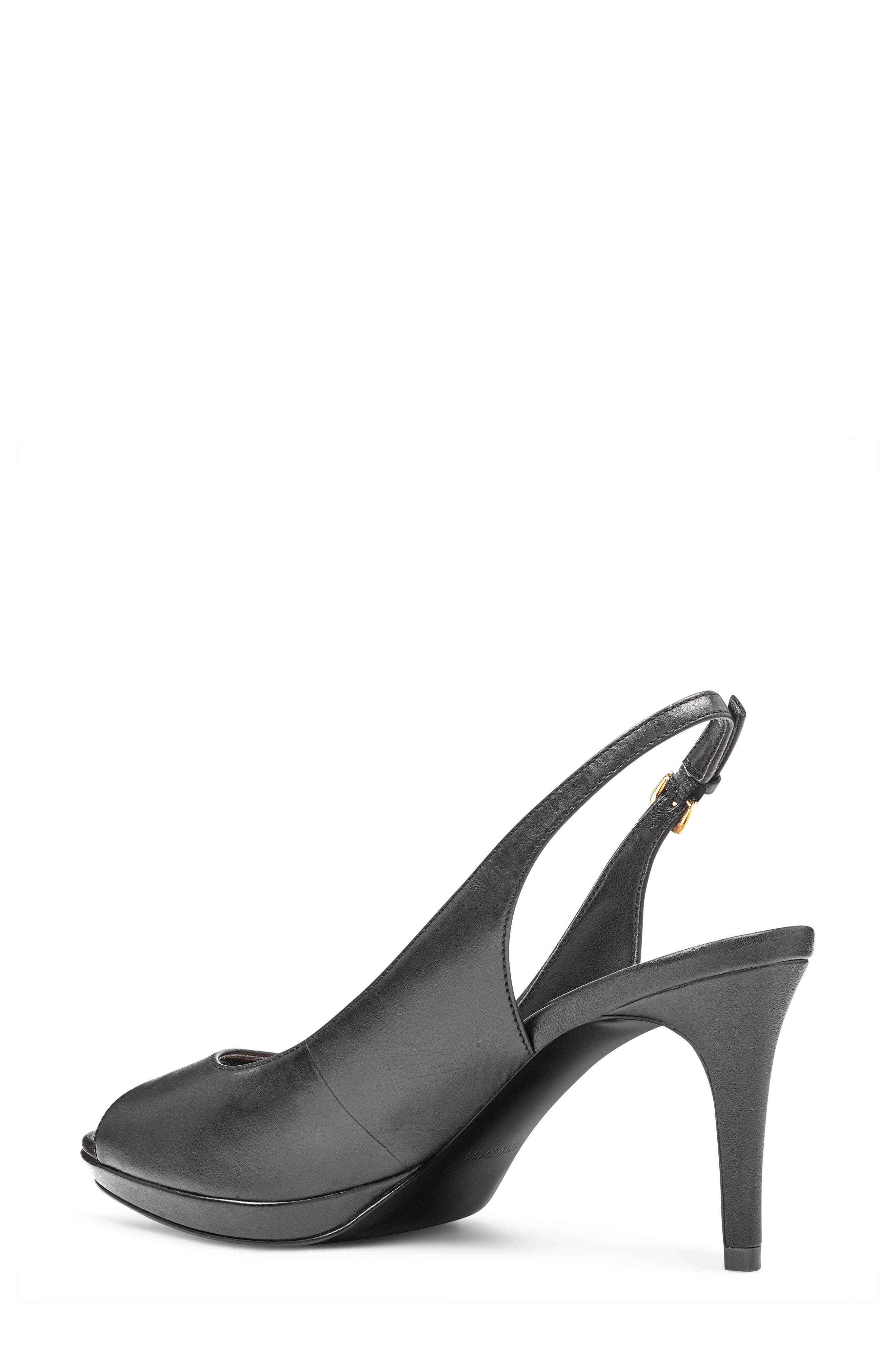 Gabrielle Peep Toe Slingback Pump,                             Alternate thumbnail 2, color,                             001