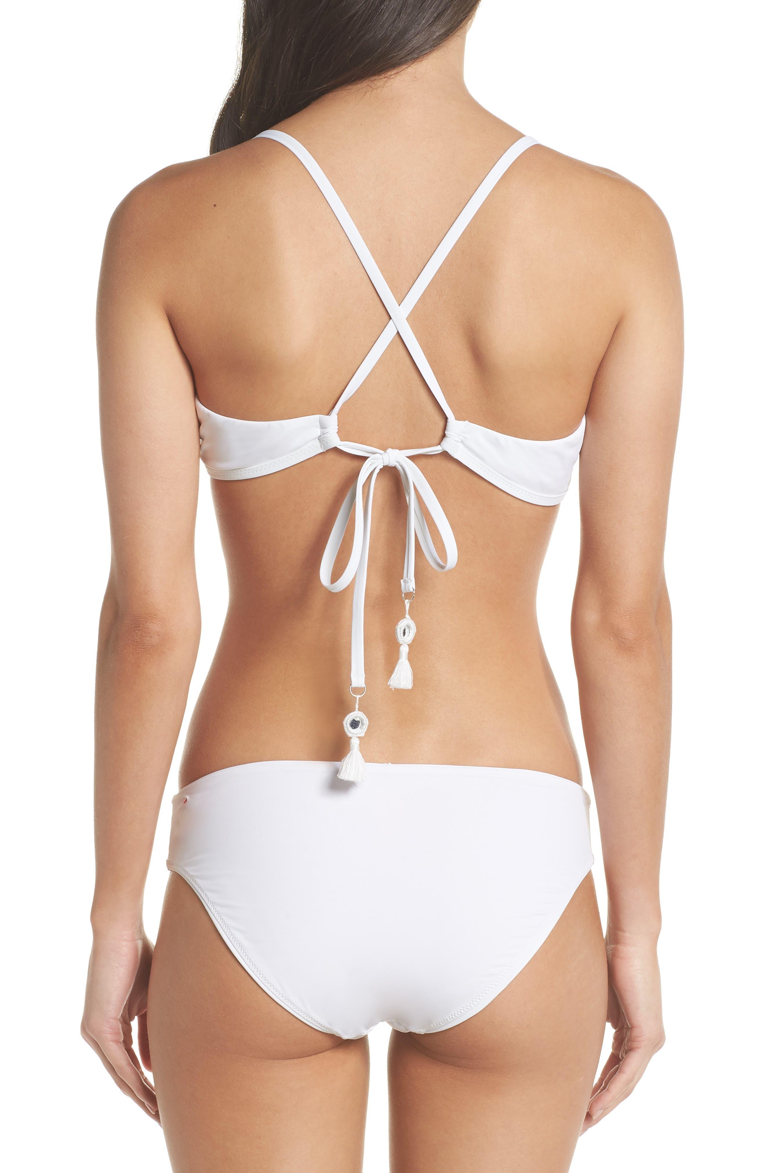 Strappy Bikini Top,                             Alternate thumbnail 8, color,                             WHITE