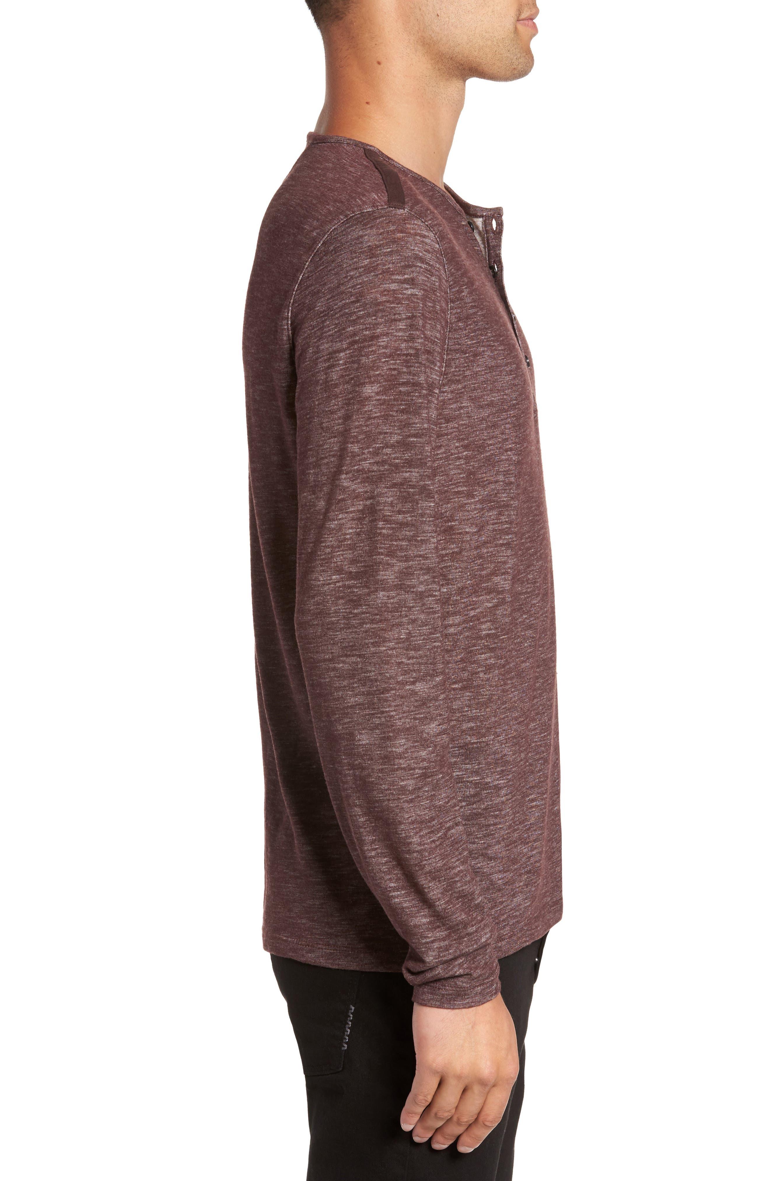 Long Sleeve Slub Knit Henley,                             Alternate thumbnail 9, color,