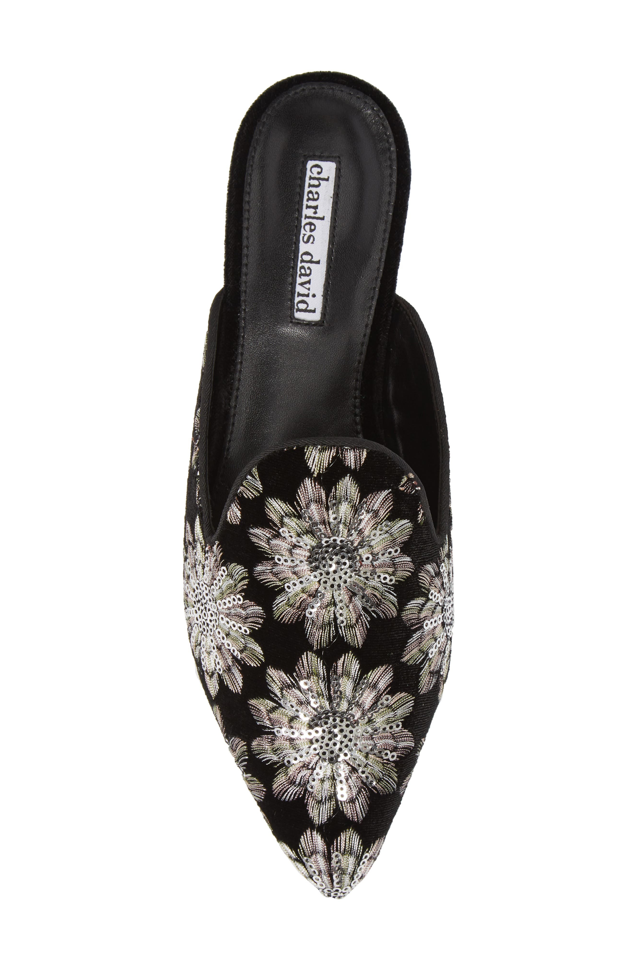 Willis Loafer Mule,                             Alternate thumbnail 5, color,                             SILVER/ BLACK FABRIC