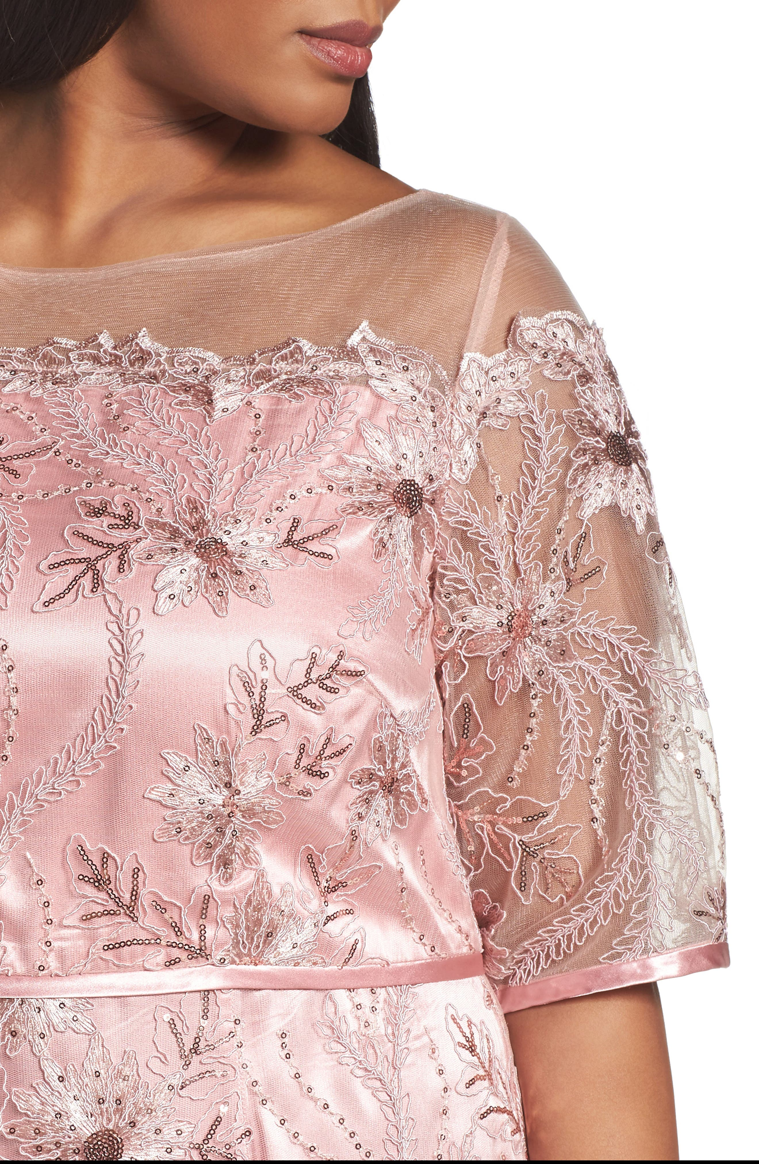Embellished Gown,                             Alternate thumbnail 4, color,                             PALE PINK