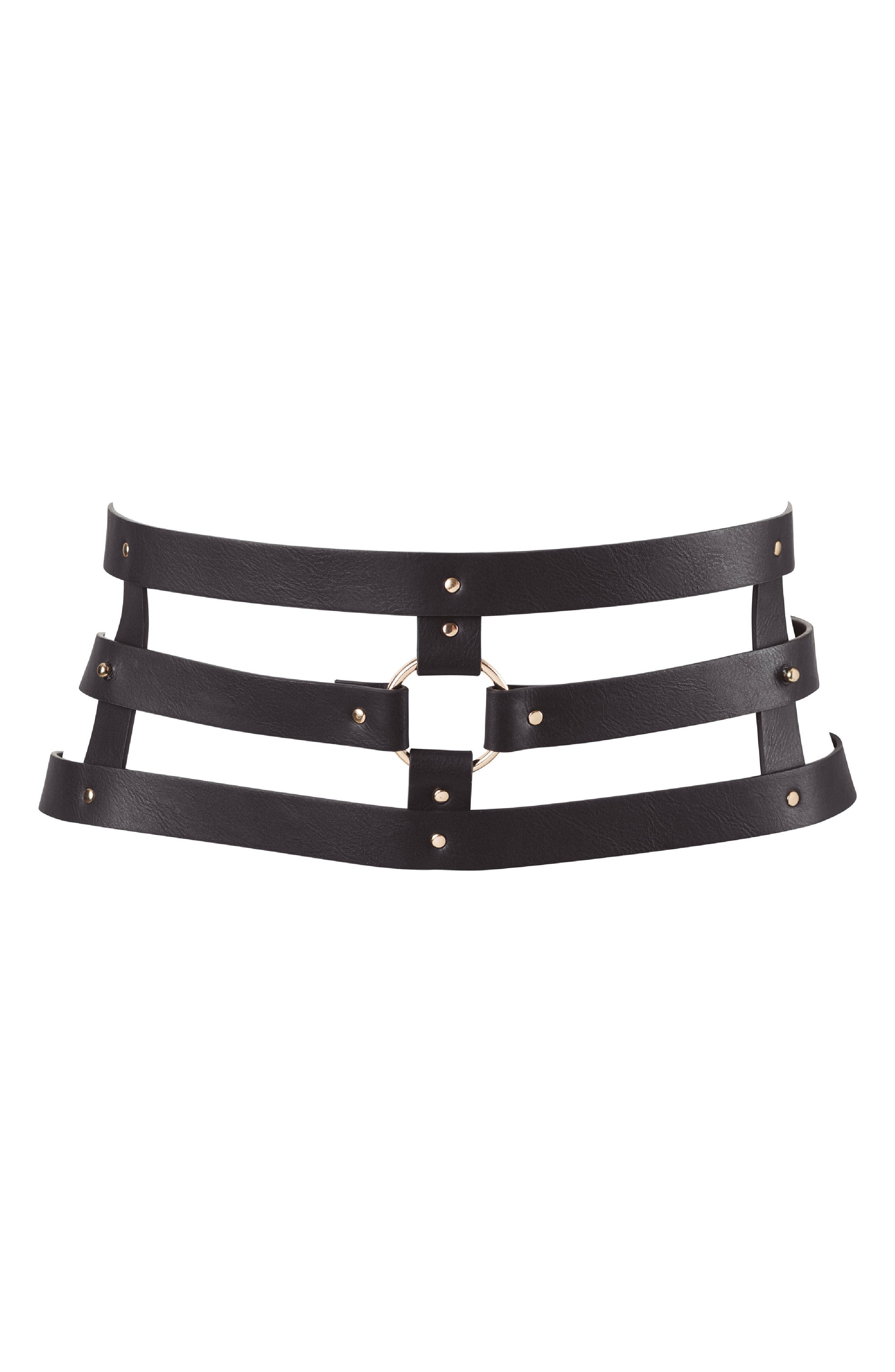 Maze Belt,                             Main thumbnail 1, color,                             BLACK