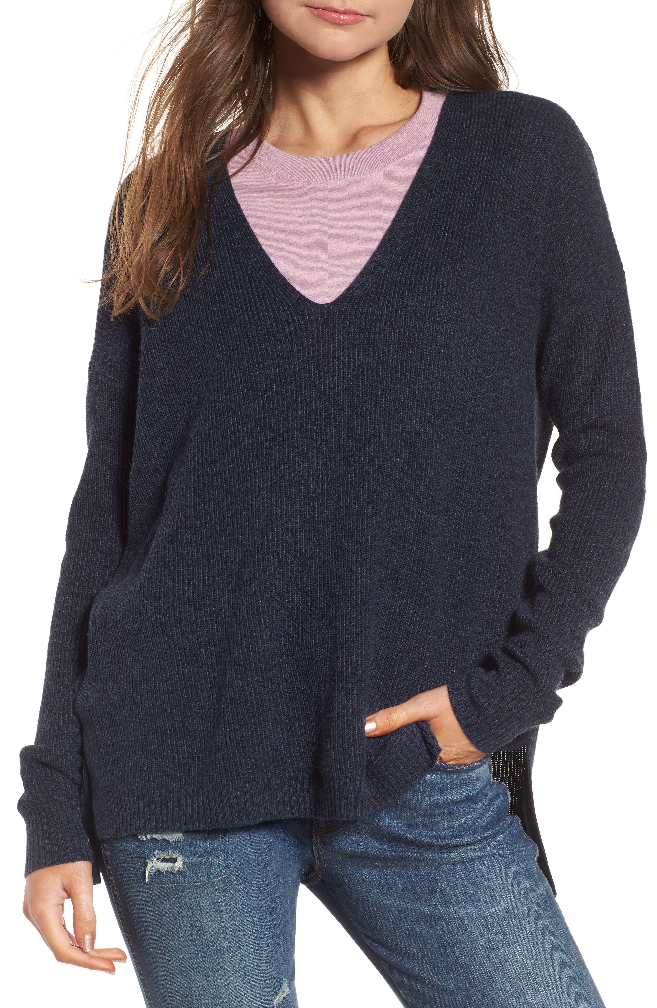 Warmlight V-Neck Sweater,                             Main thumbnail 1, color,                             400