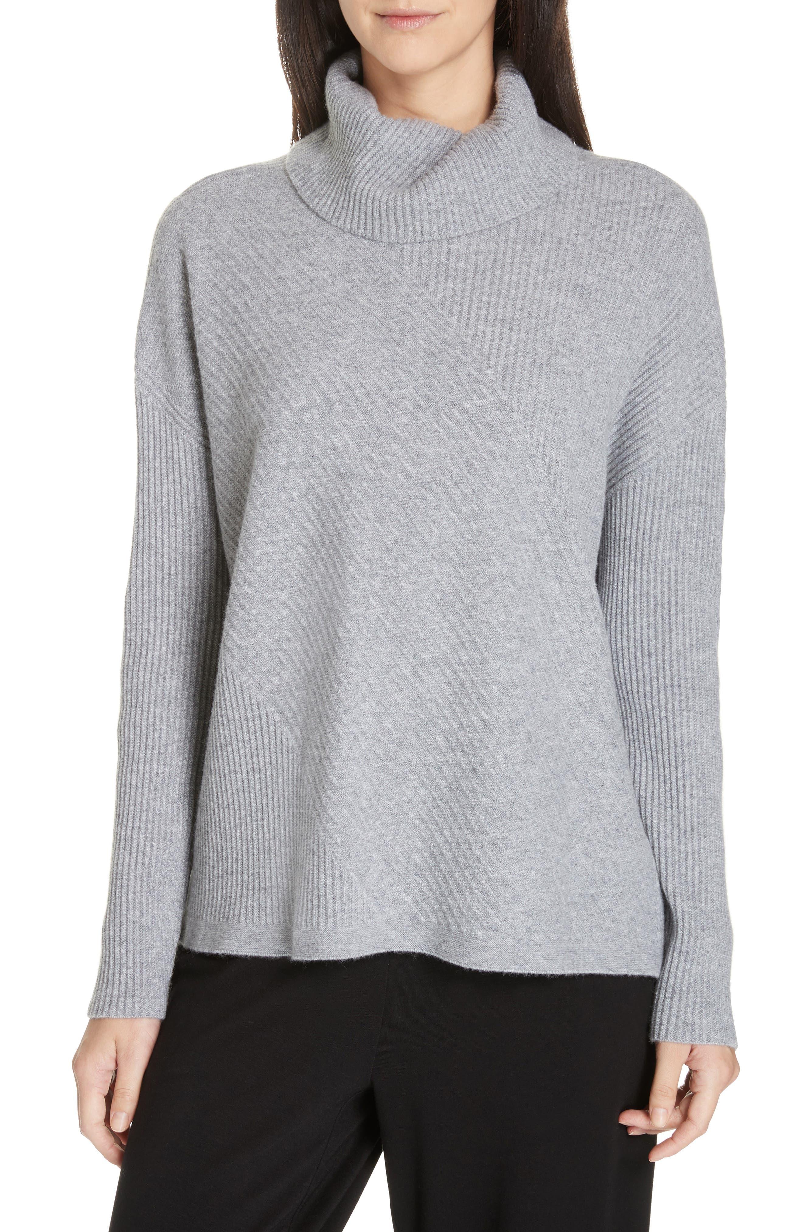women's eileen fisher cashmere turtleneck top