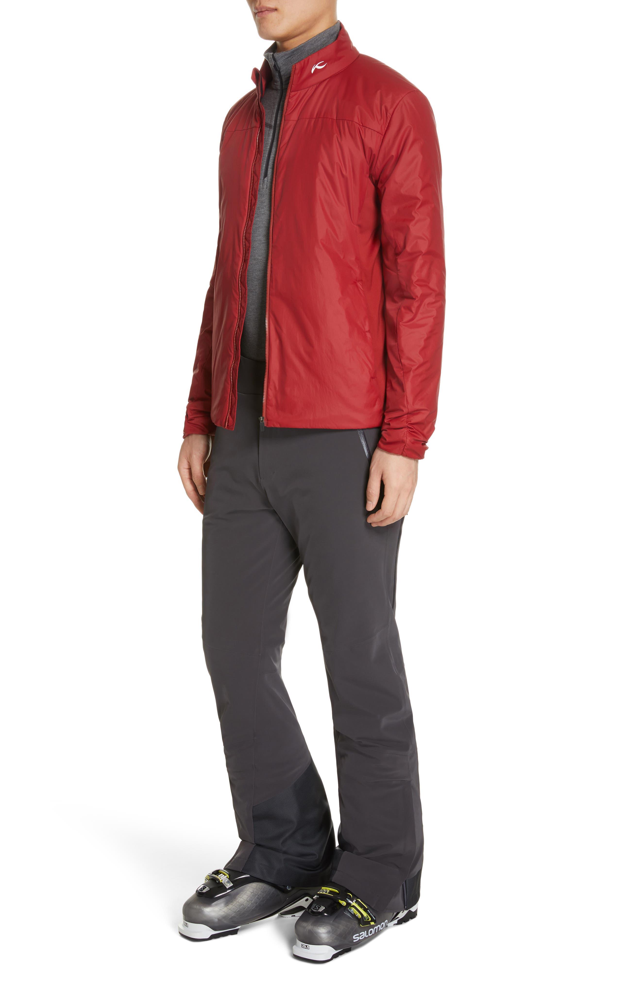 Radiation Waterproof Jacket,                             Alternate thumbnail 5, color,                             RED DAHLIA