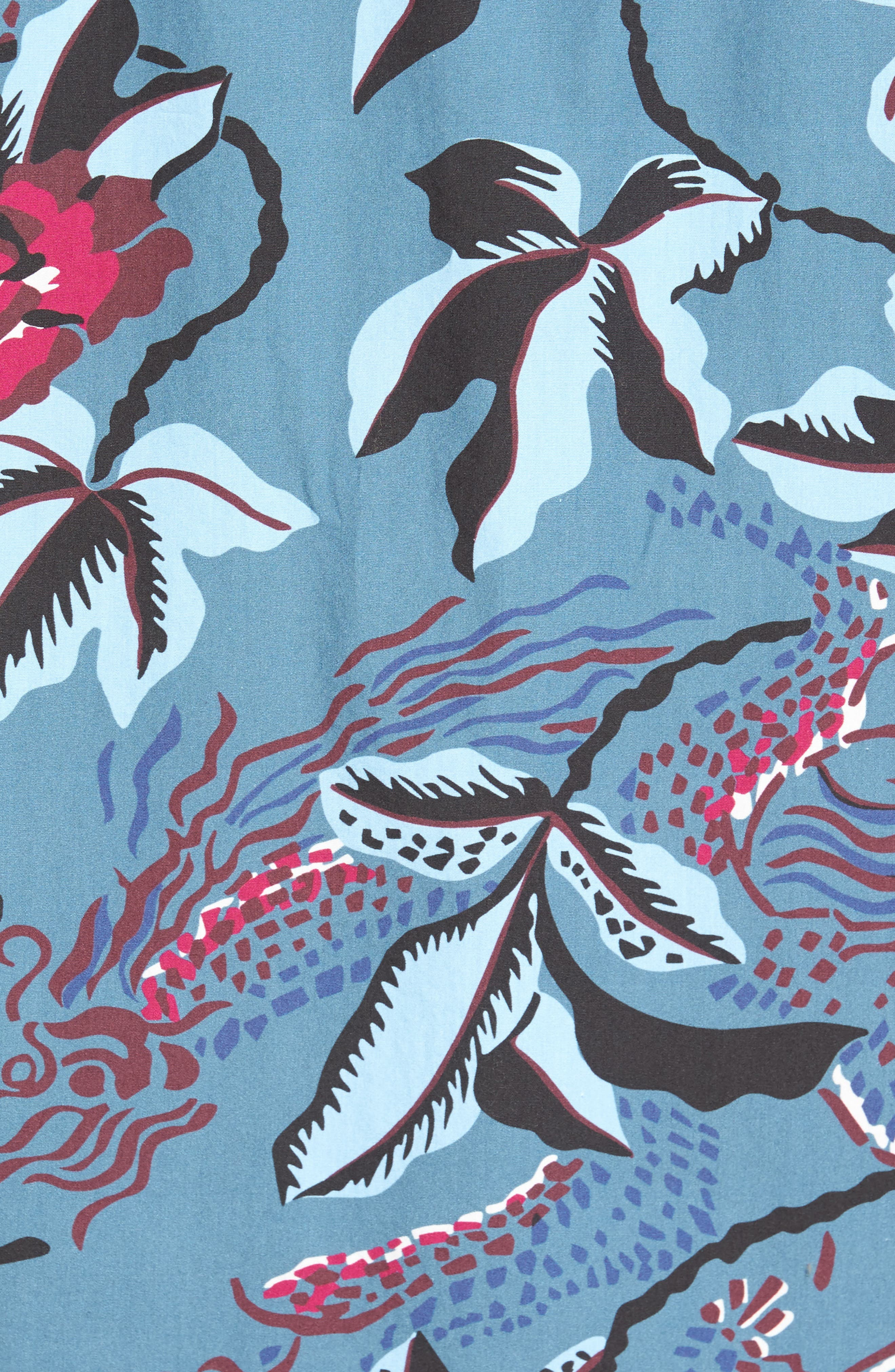 Slim Fit Floral Print Sport Shirt,                             Alternate thumbnail 5, color,                             400