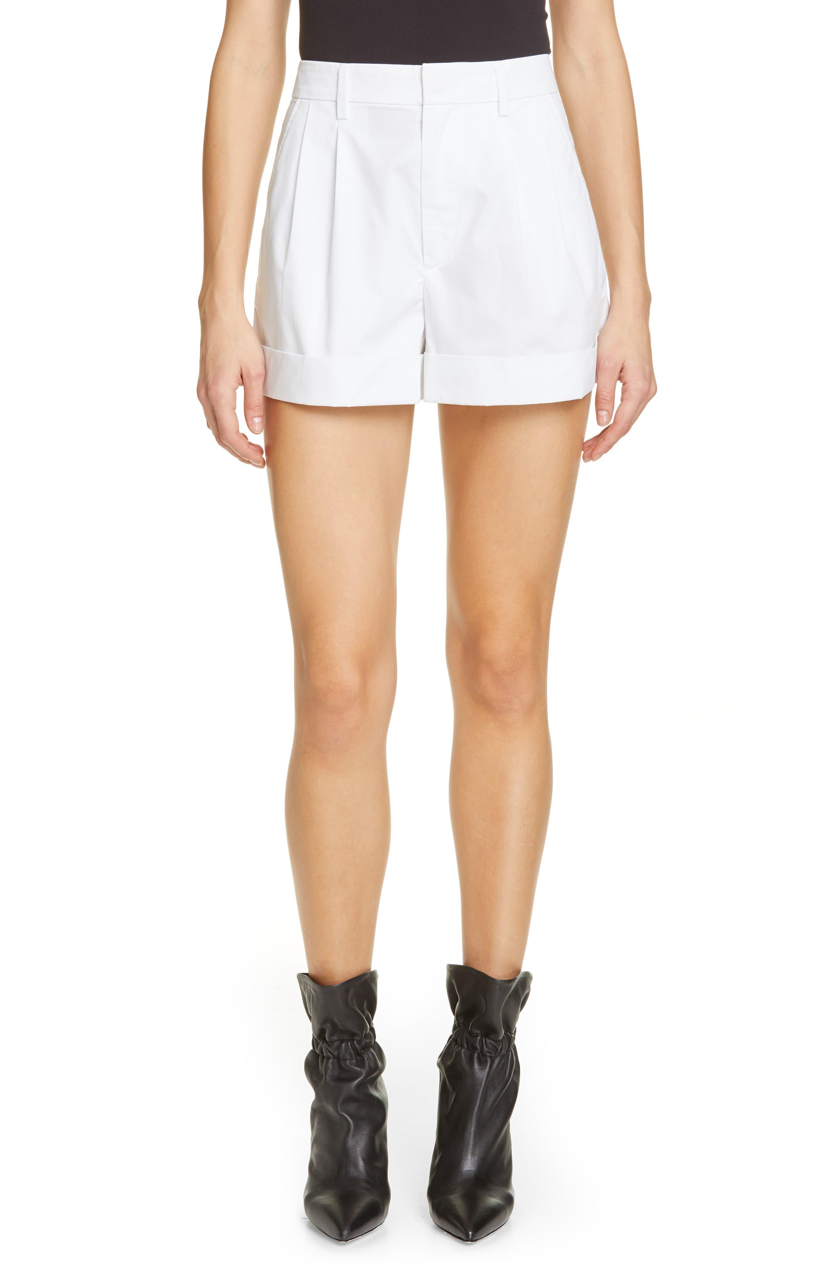 Olbia Cotton Shorts, Main, color, WHITE