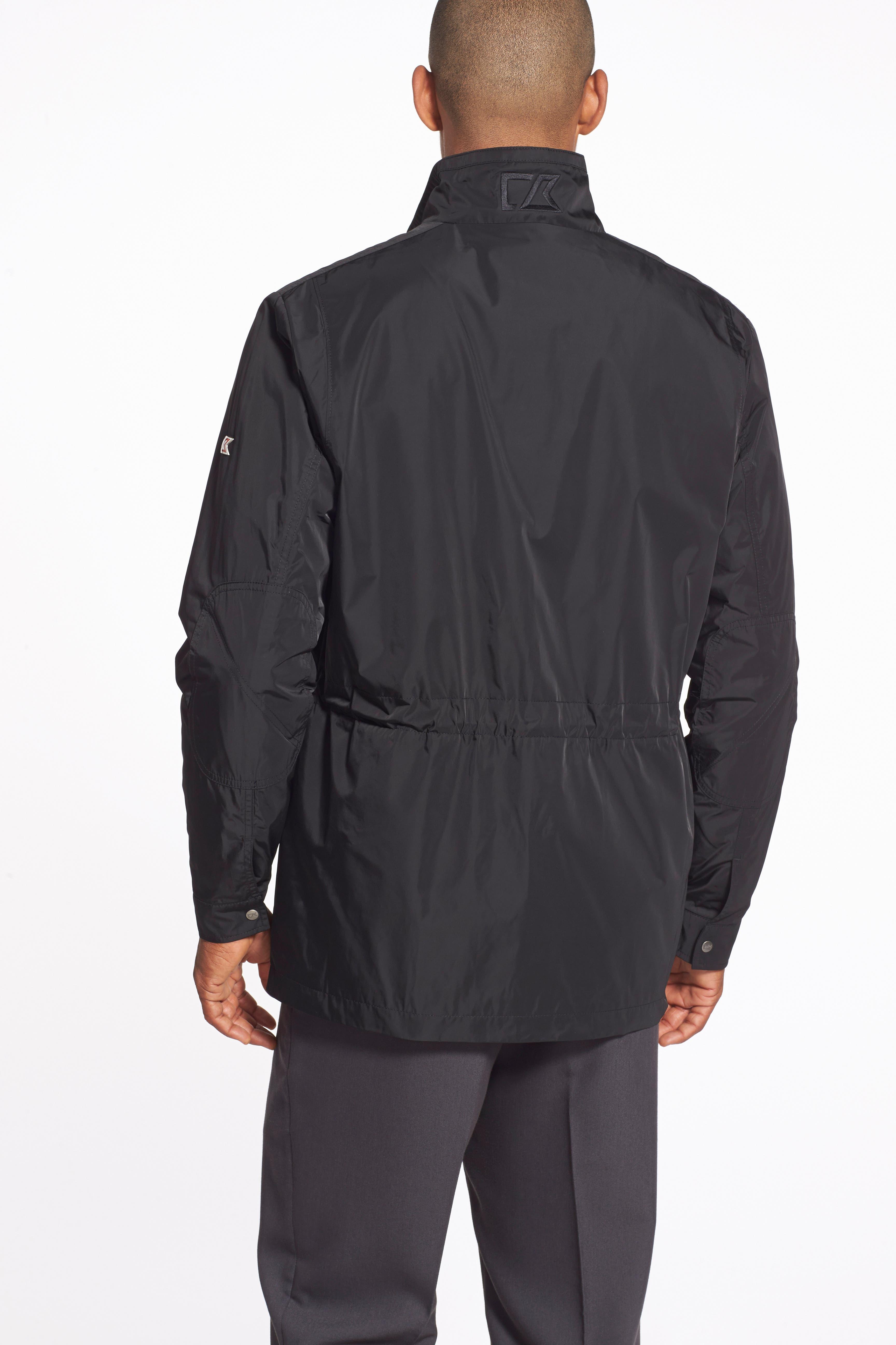 Birch Bay Water Resistant Jacket,                             Alternate thumbnail 6, color,                             BLACK