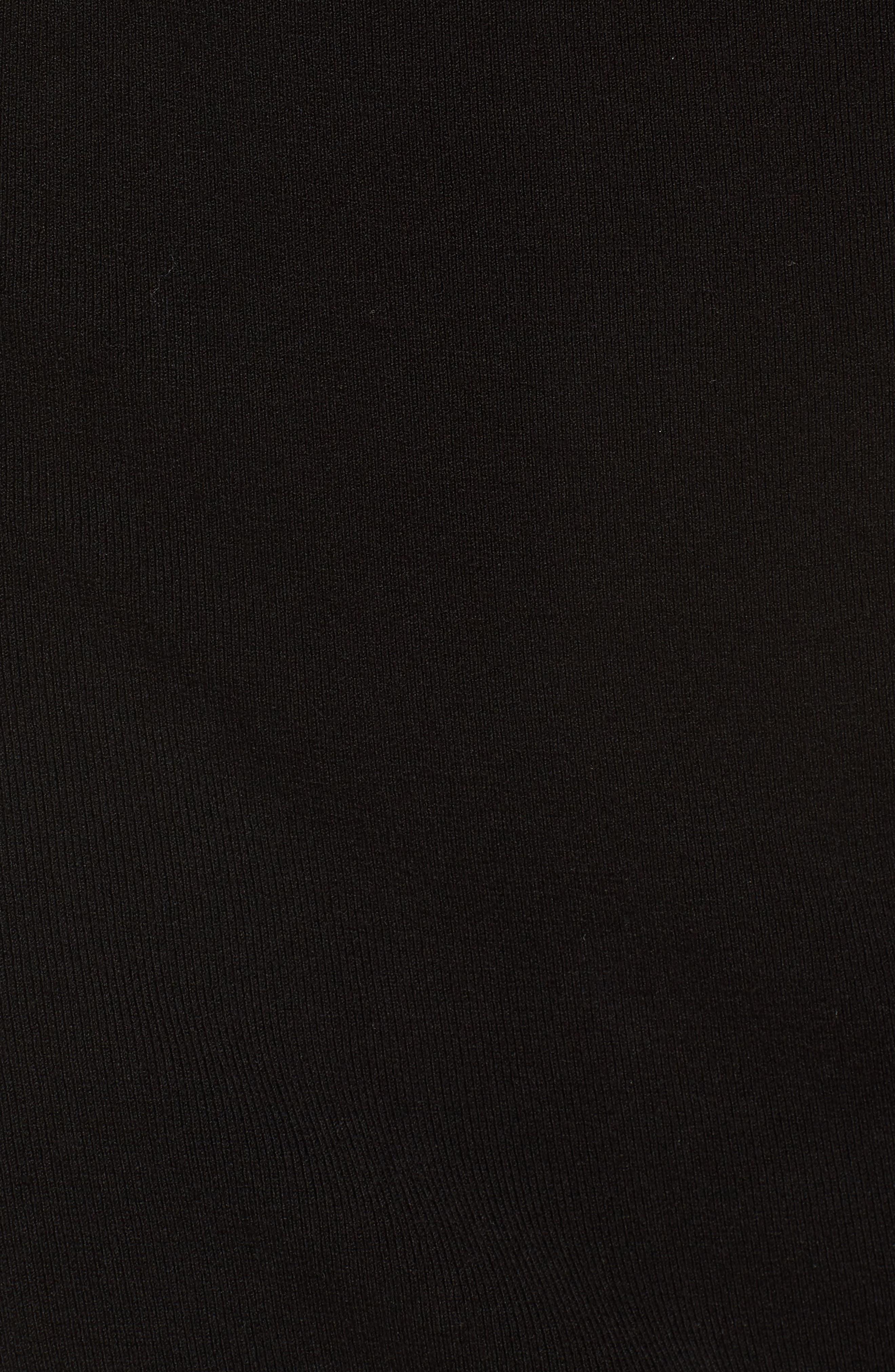 High Waist Body-Con Skirt,                             Alternate thumbnail 5, color,                             BLACK