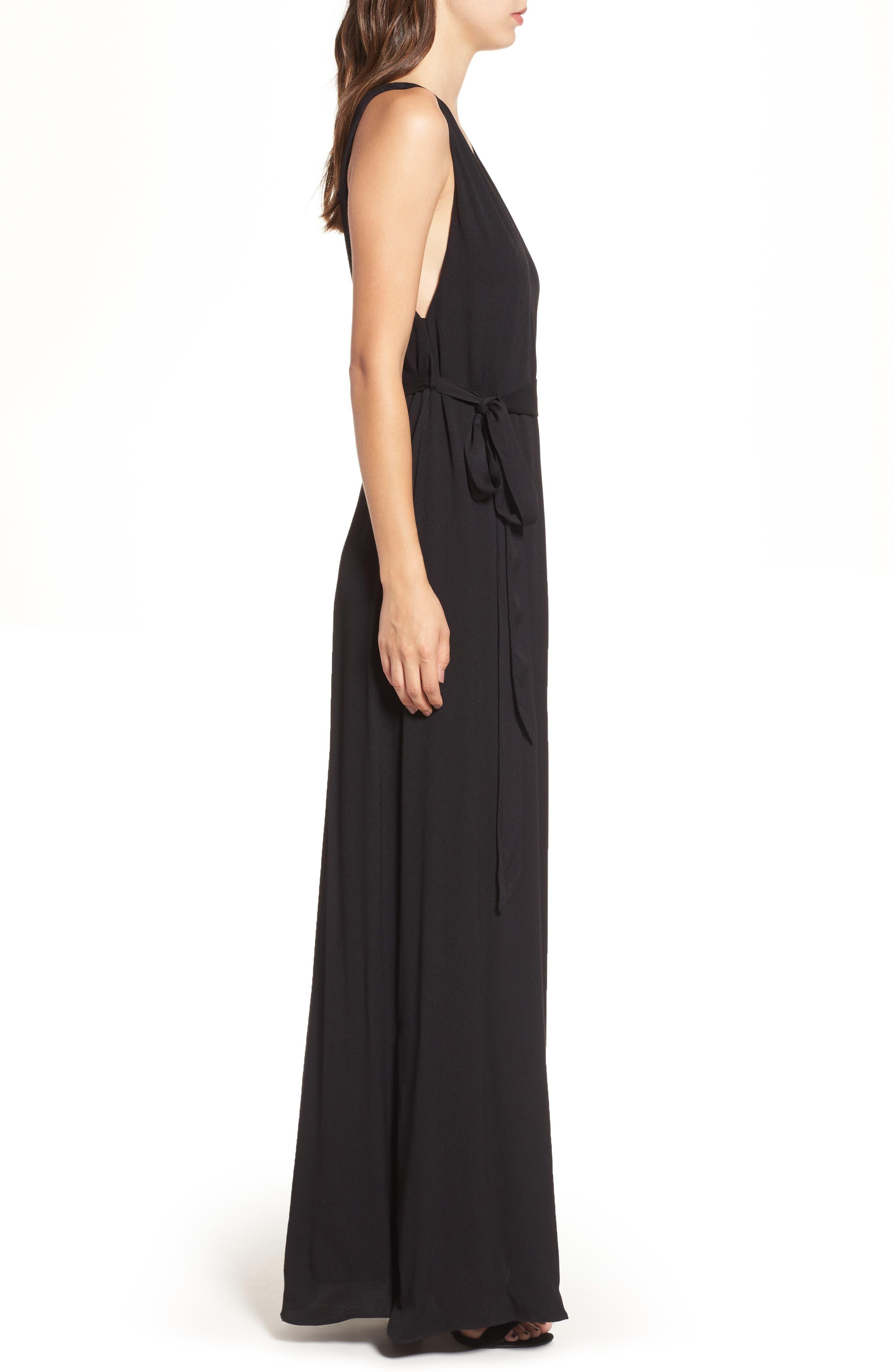 Rowan Maxi Dress,                             Alternate thumbnail 3, color,                             001