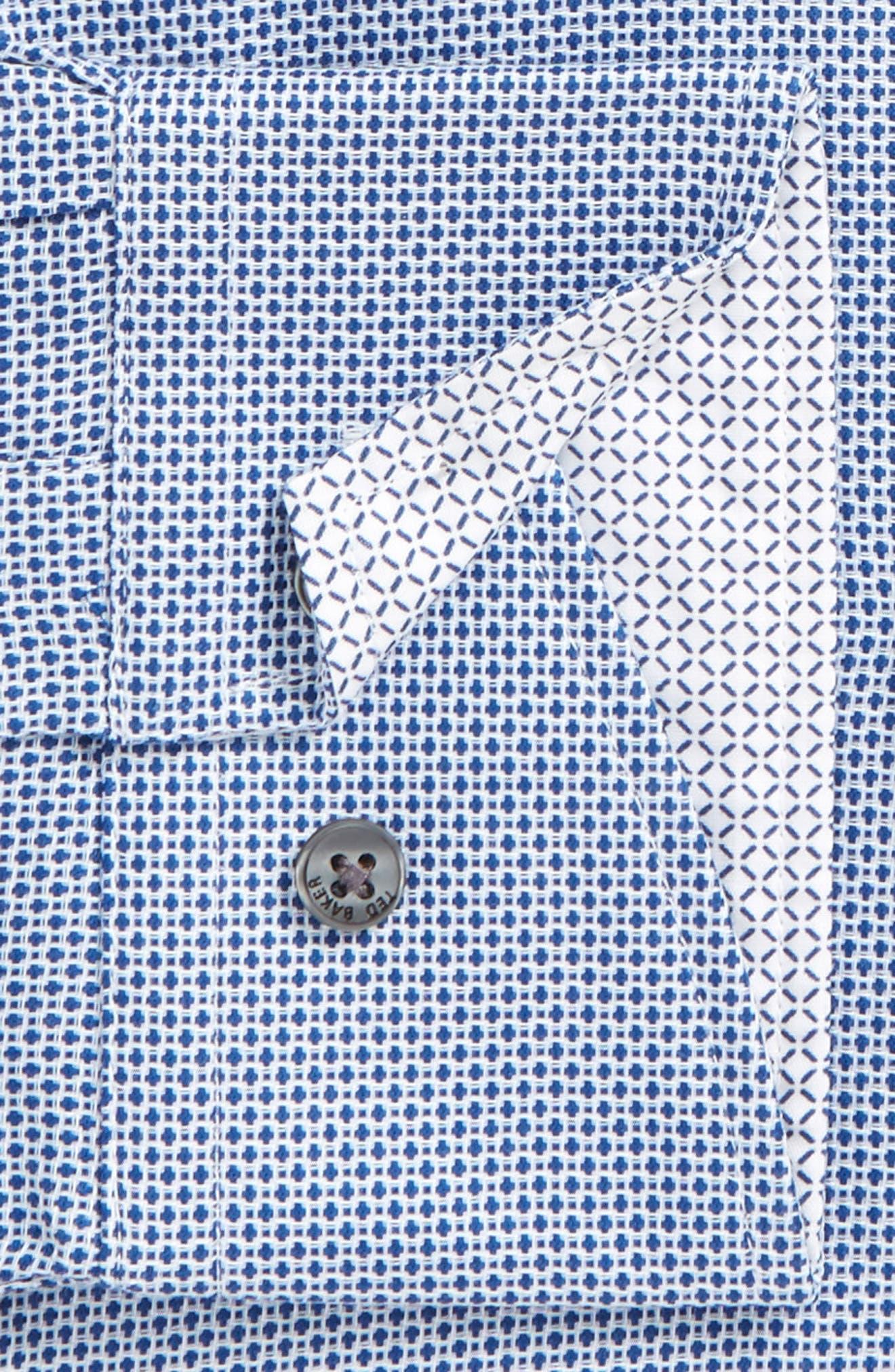 Slim Fit Geometric Dress Shirt,                             Alternate thumbnail 2, color,                             410