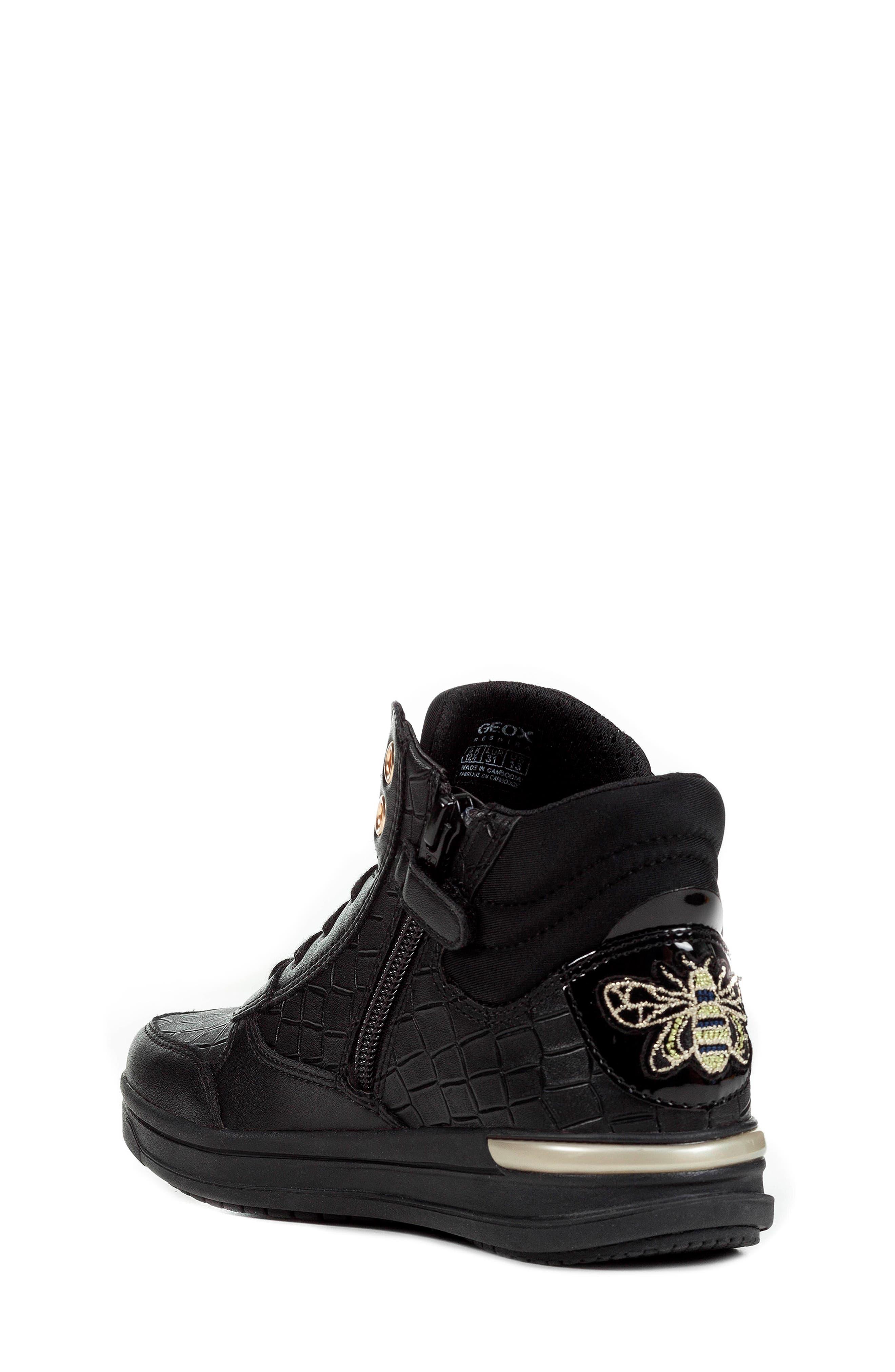 Aveup High Top Sneaker,                             Alternate thumbnail 2, color,                             BLACK