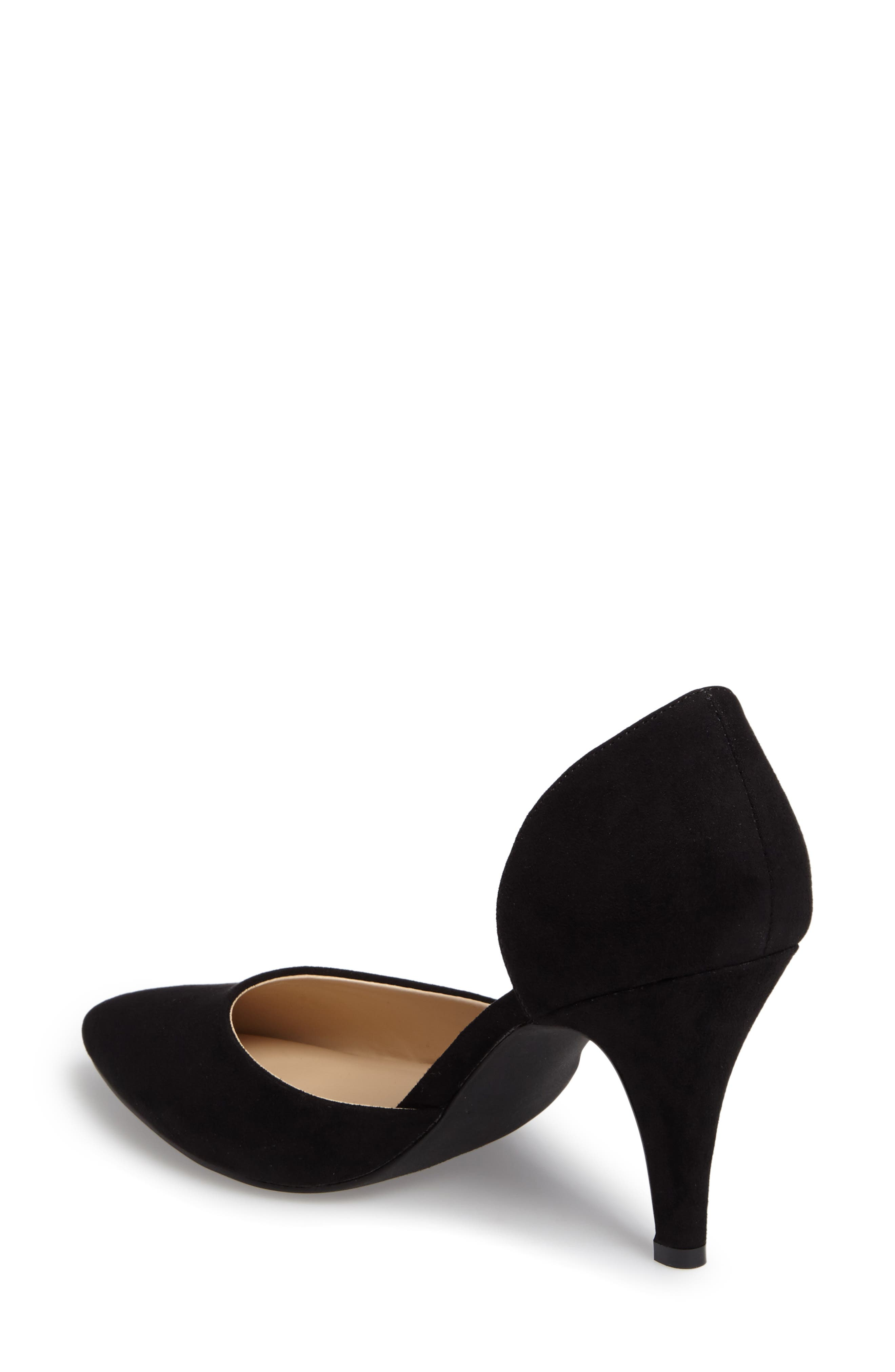 Felicitas d'Orsay Pump,                             Alternate thumbnail 2, color,                             BLACK SYNTHETIC