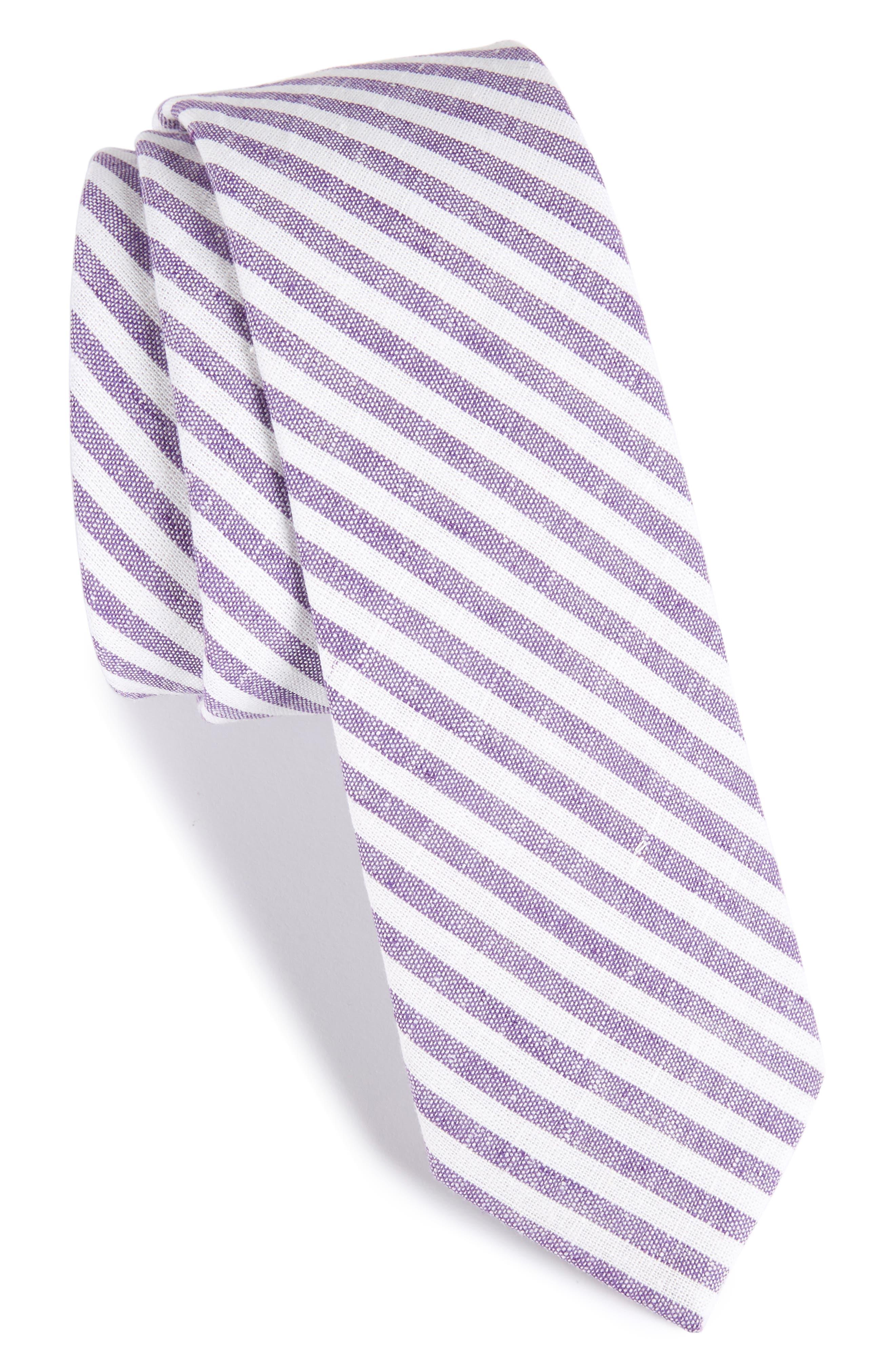 Stripe Cotton Tie,                             Main thumbnail 4, color,