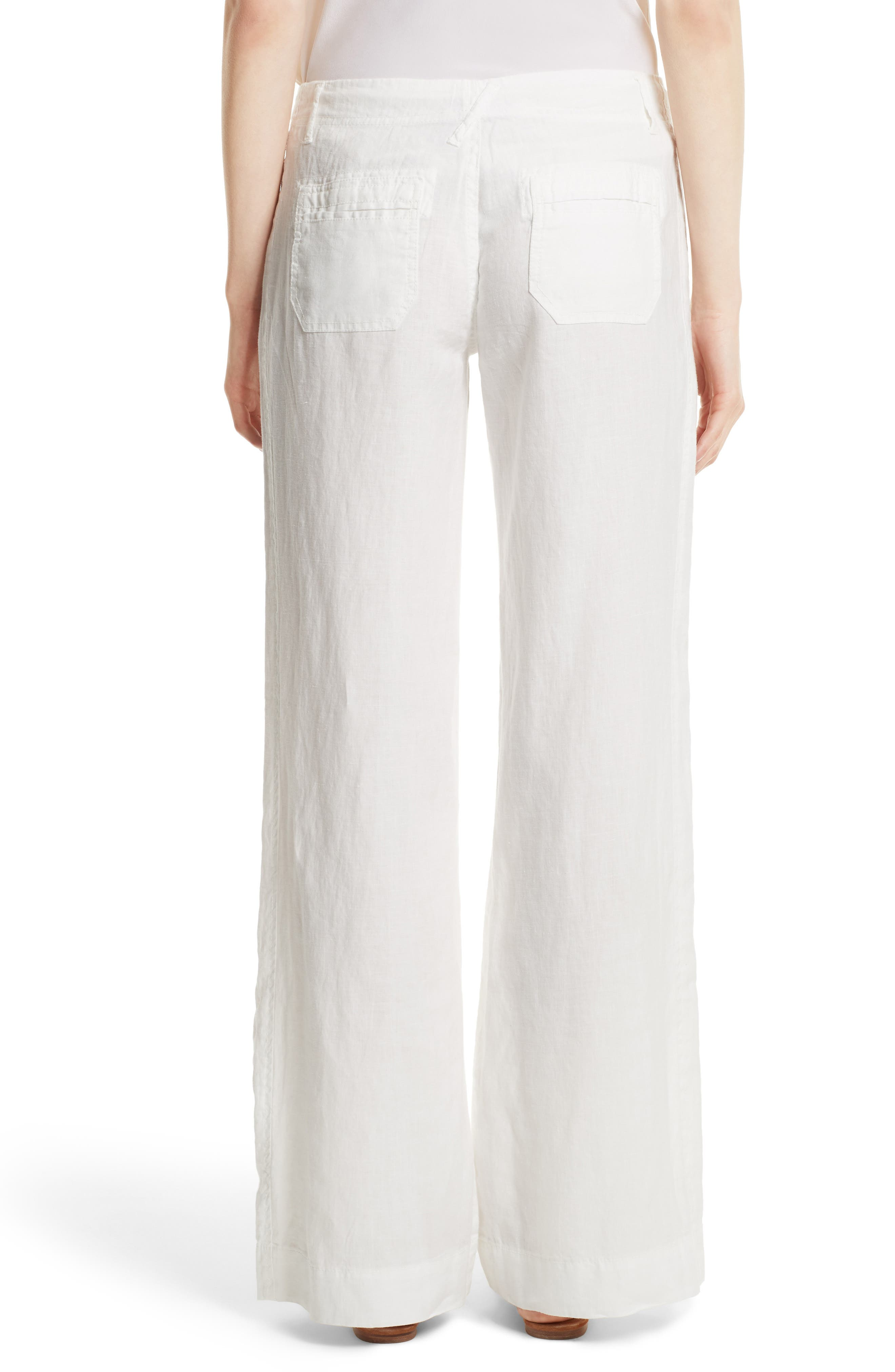 Wide Leg Linen Pants,                             Alternate thumbnail 8, color,