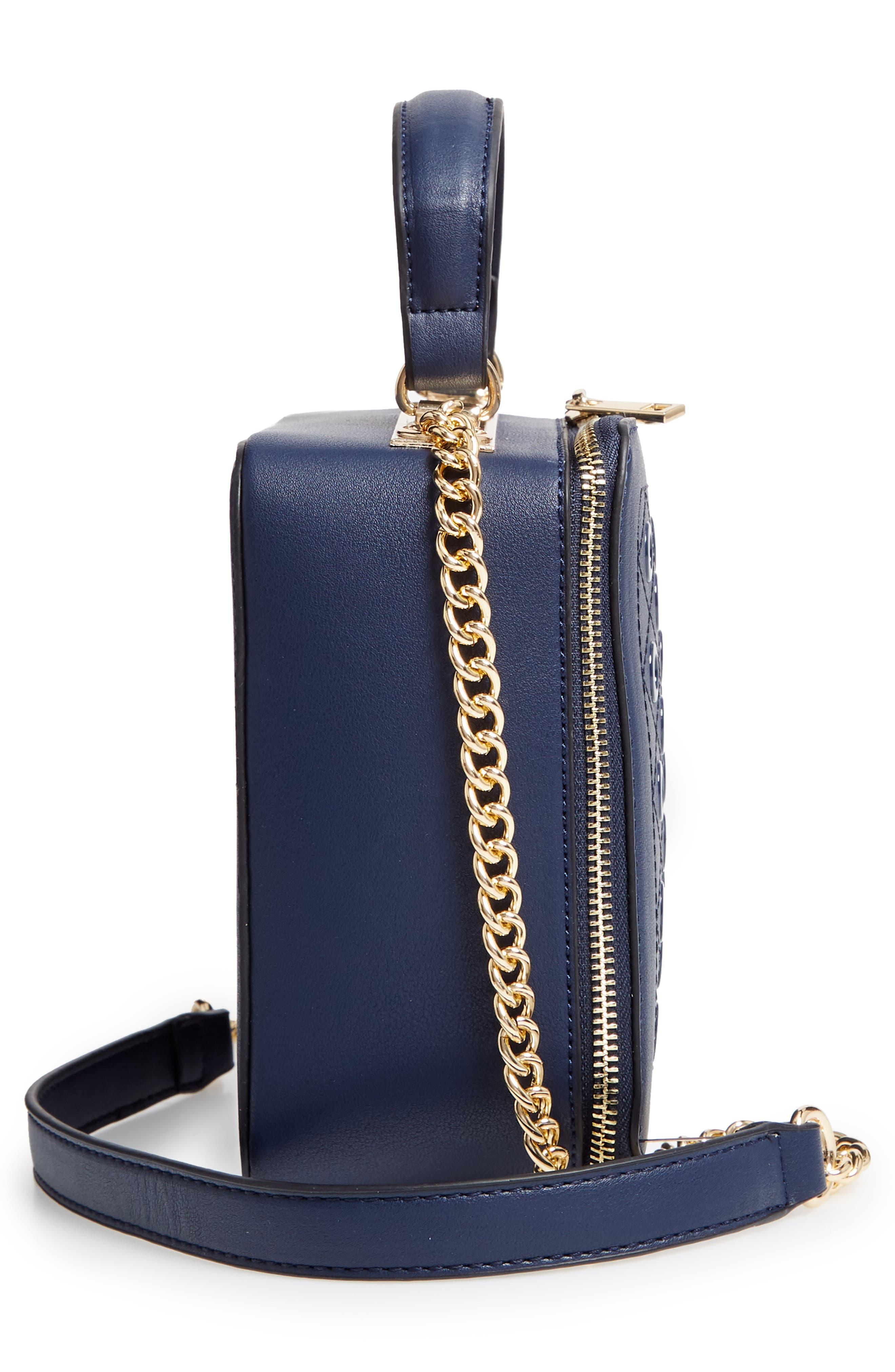 Grommet Detail Faux Leather Crossbody Bag,                             Alternate thumbnail 5, color,                             400
