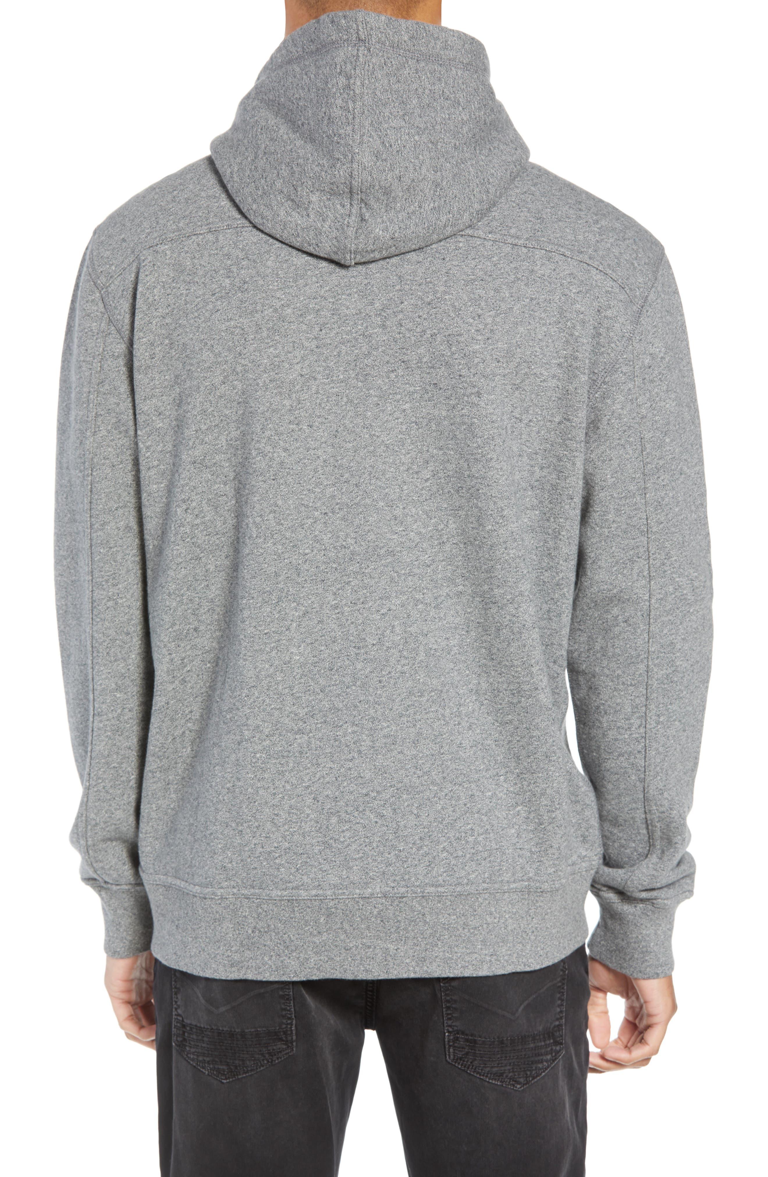 Regular Fit Hooded Zip Sweatshirt,                             Alternate thumbnail 2, color,                             HEATHER GREY
