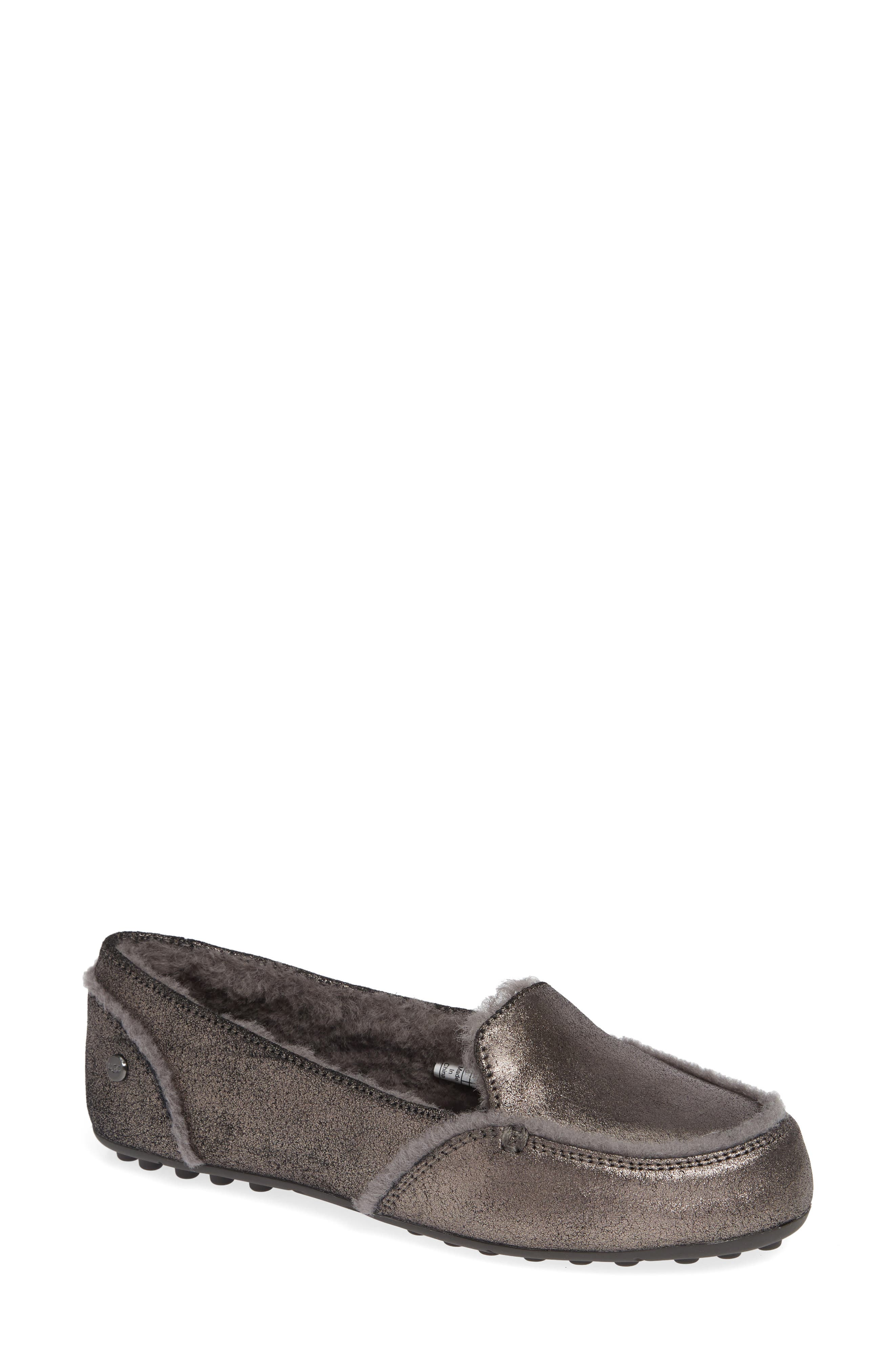 Hailey Metallic Slipper,                             Main thumbnail 1, color,                             GUNMETAL